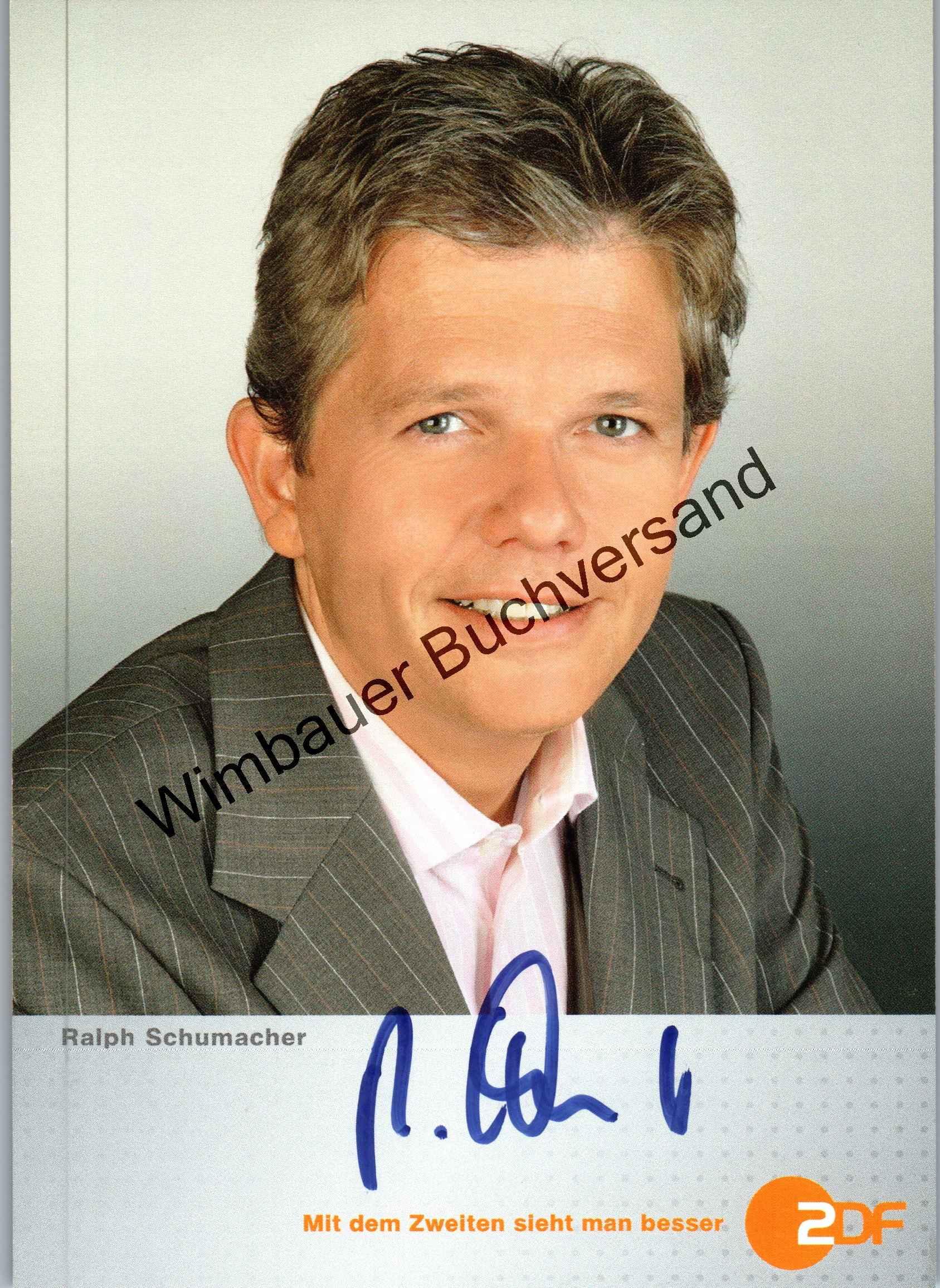 Original Autogramm Ralph Schumacher ZDF /// Autogramm Autograph signiert signed signee