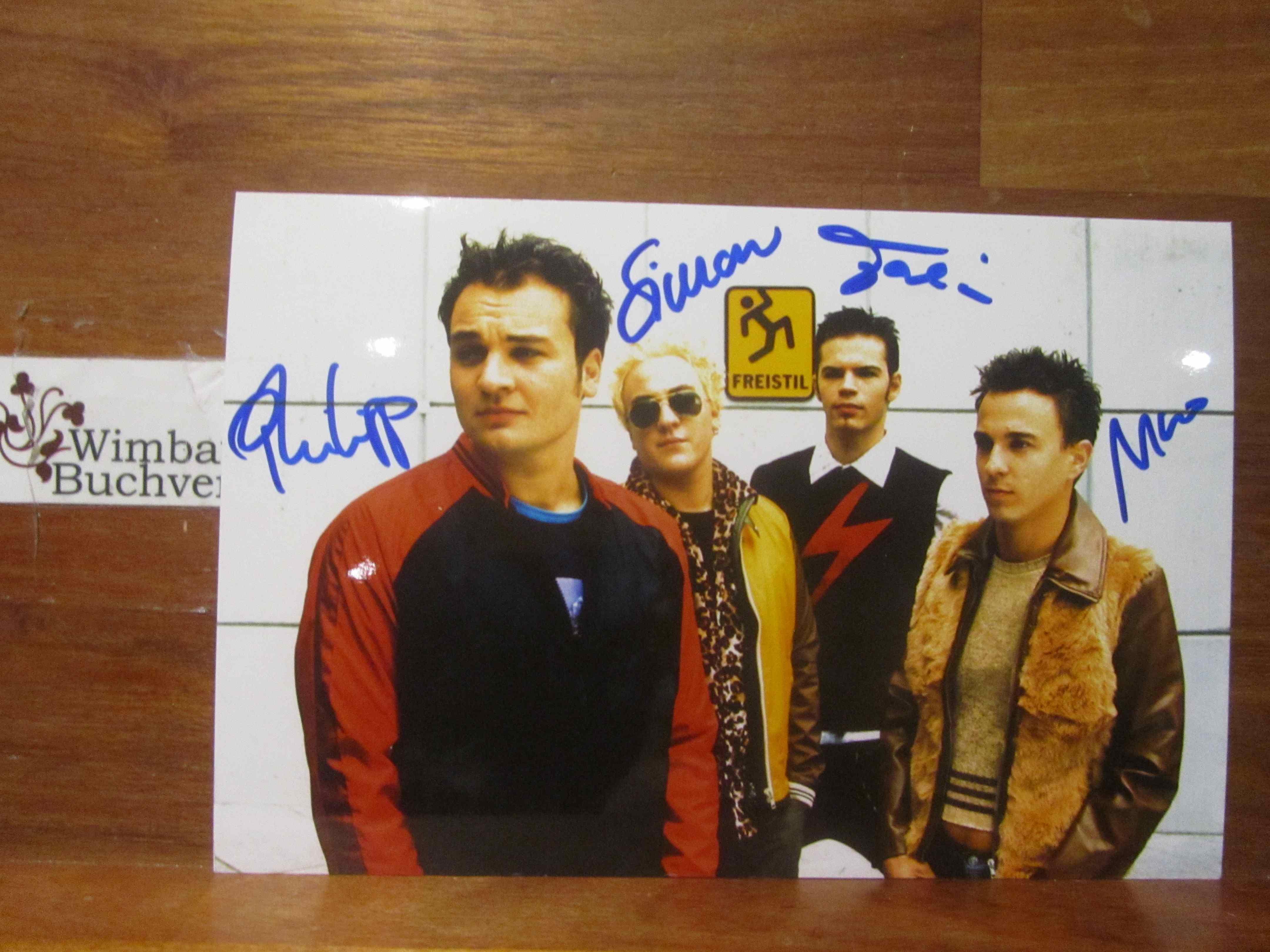 Original Autogramme Freistil (Band) /// Autogramm Autograph signiert signed signee