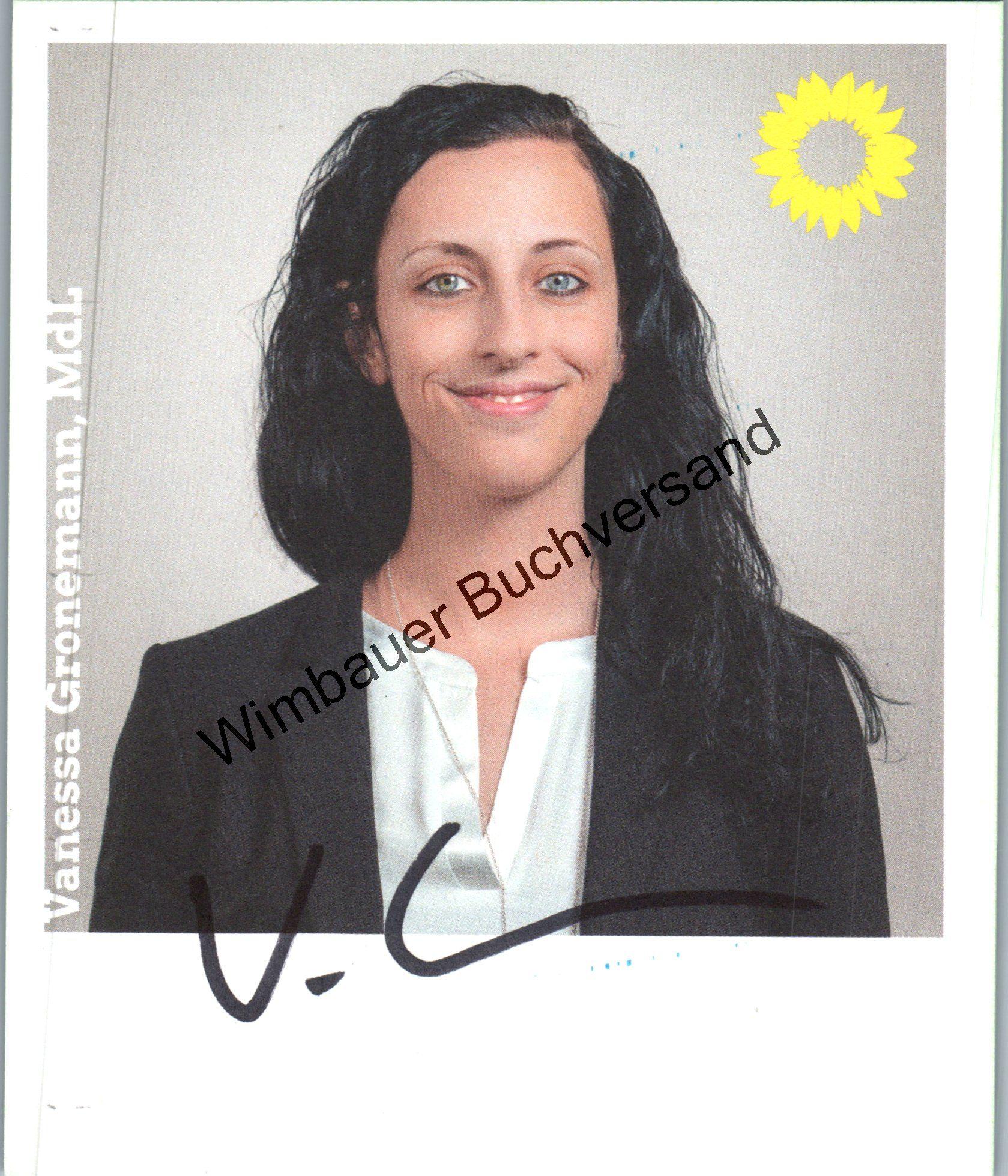 Original Autogramm Vanessa Gronemann MdL Bündnis 90 Die Grünen /// Autogramm Autograph signiert signed signee