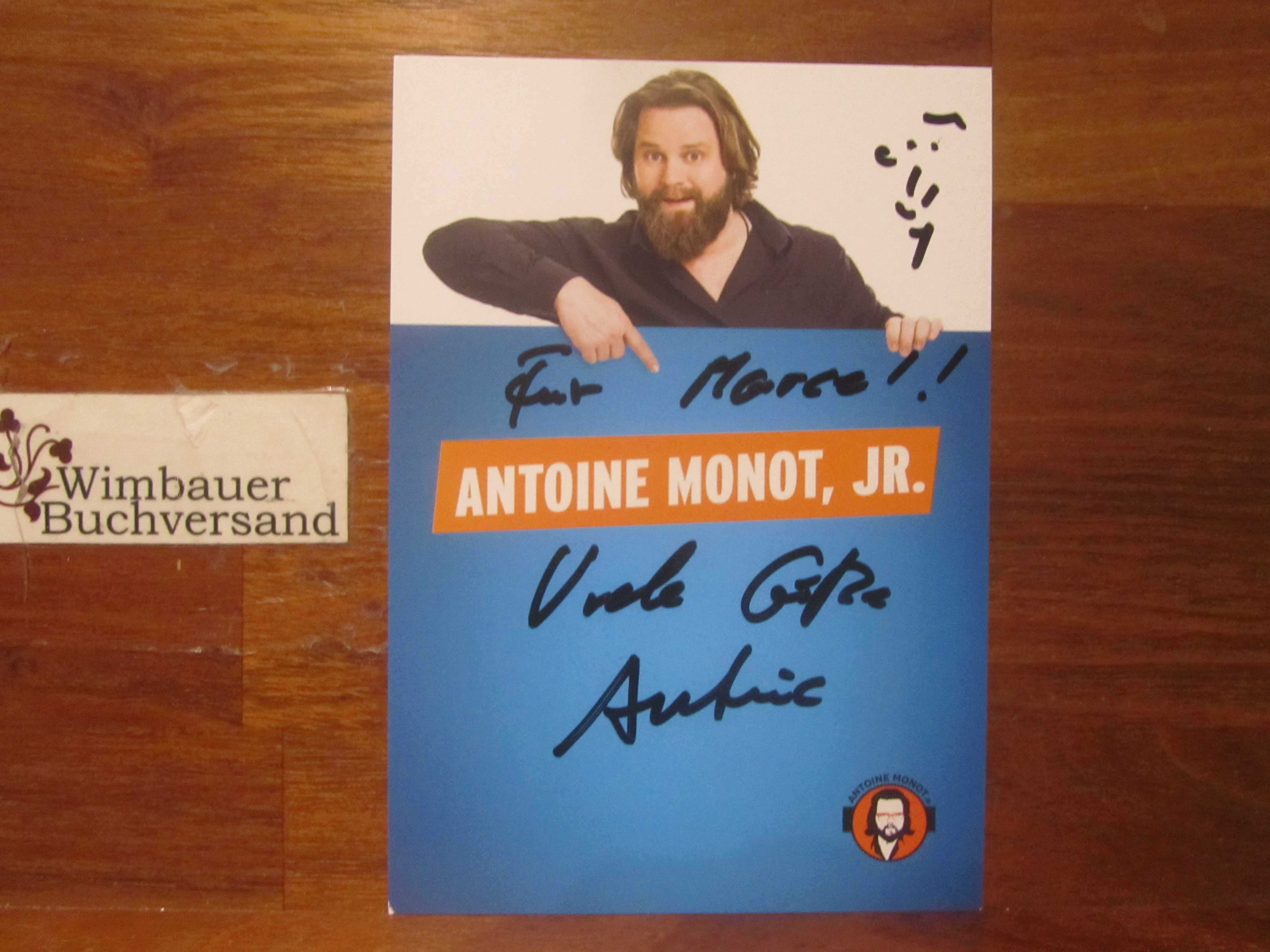 Original Autogramm Antoine Monot, Jr. /// Autogramm Autograph signiert signed signee