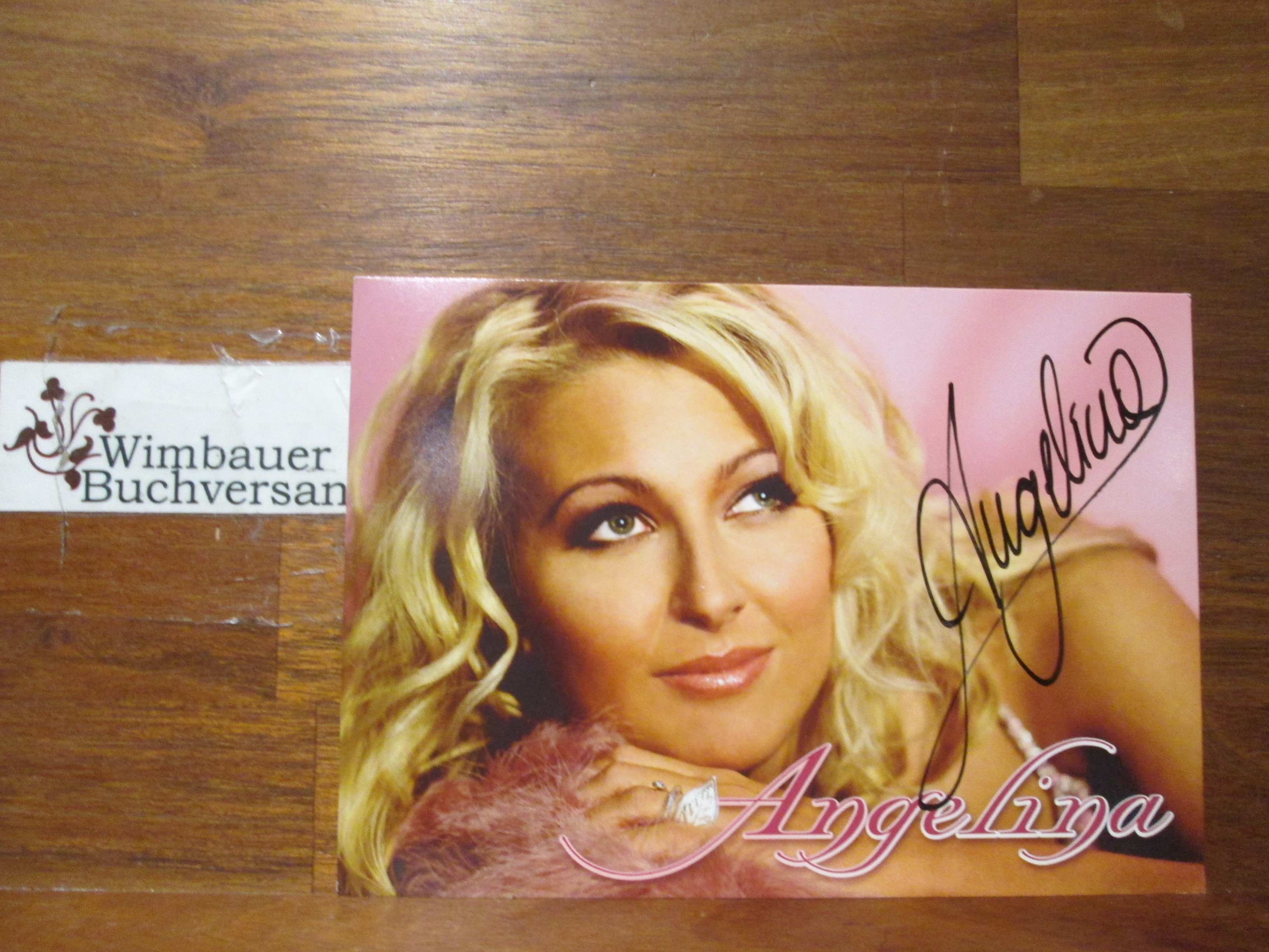 Original Autogramm Angelina /// Autogramm Autograph signiert signed signee