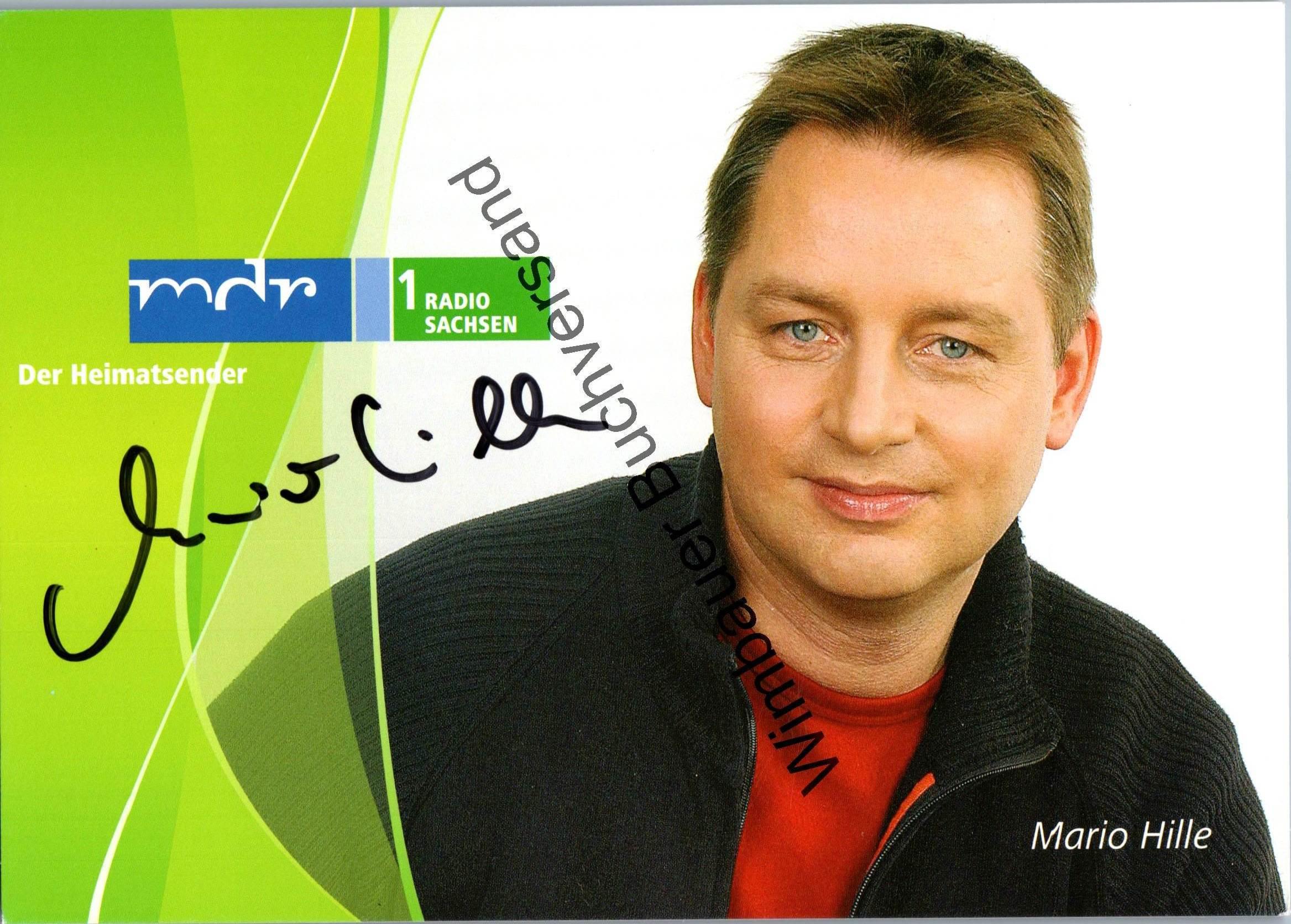 Original Autogramm Mario Hille MDR /// Autogramm Autograph signiert signed signee