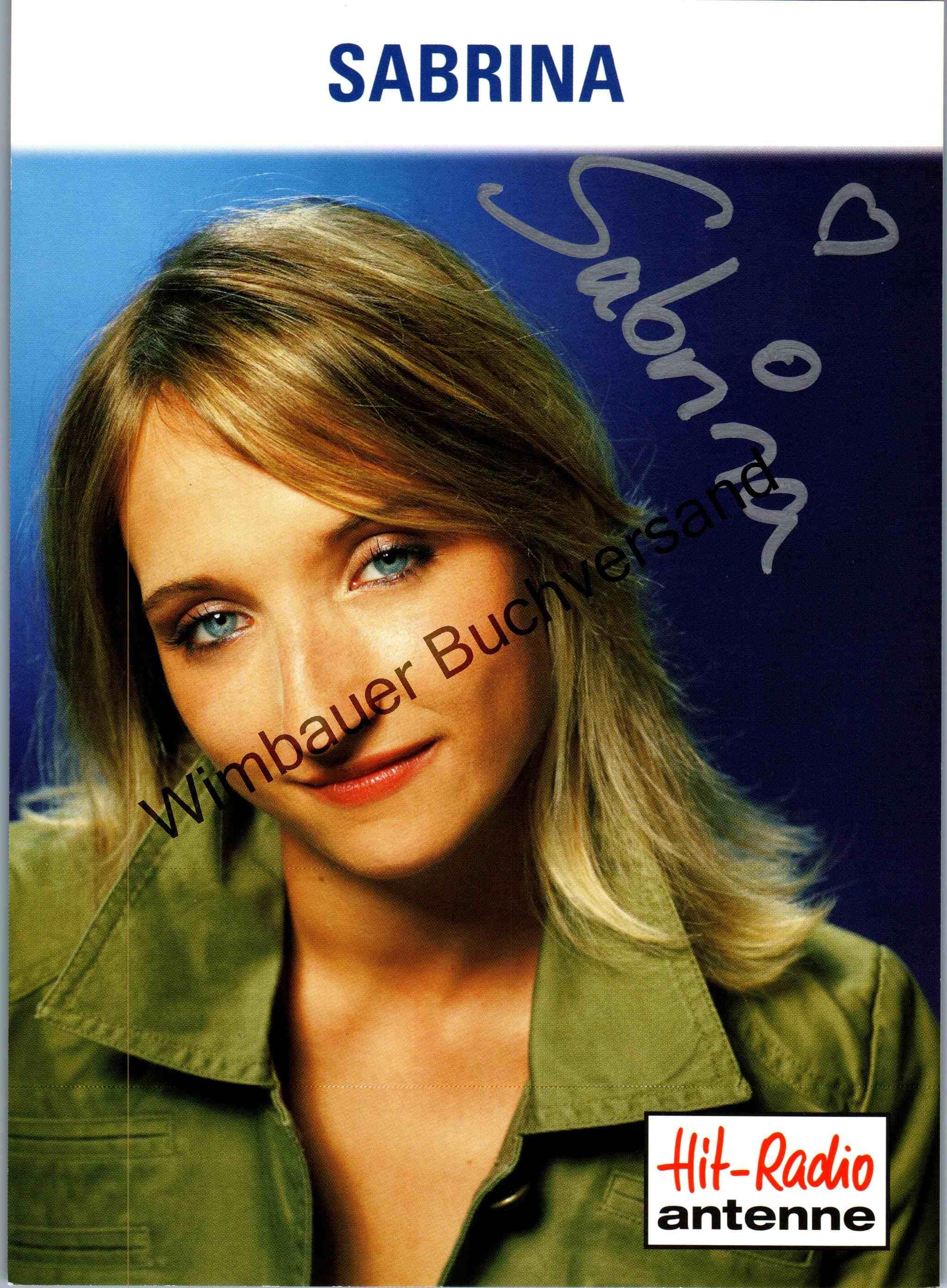 Original Autogramm Sabrina Ege Hit-Radio Antenne /// Autogramm Autograph signiert signed signee