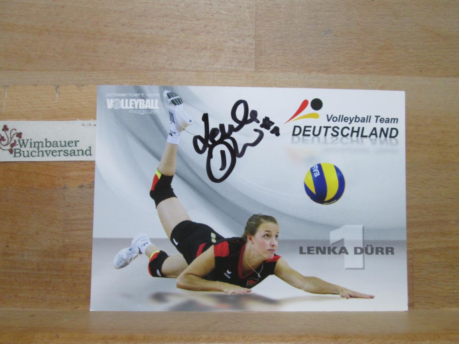 Original Autogramm Lenka Dürr Volleyball Team Deutschland /// Autogramm Autograph signiert signed signee