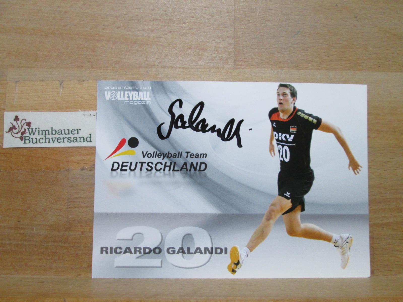 Original Autogramm Ricardo Galandi Volleyball Team Deutschland /// Autogramm Autograph signiert signed signee