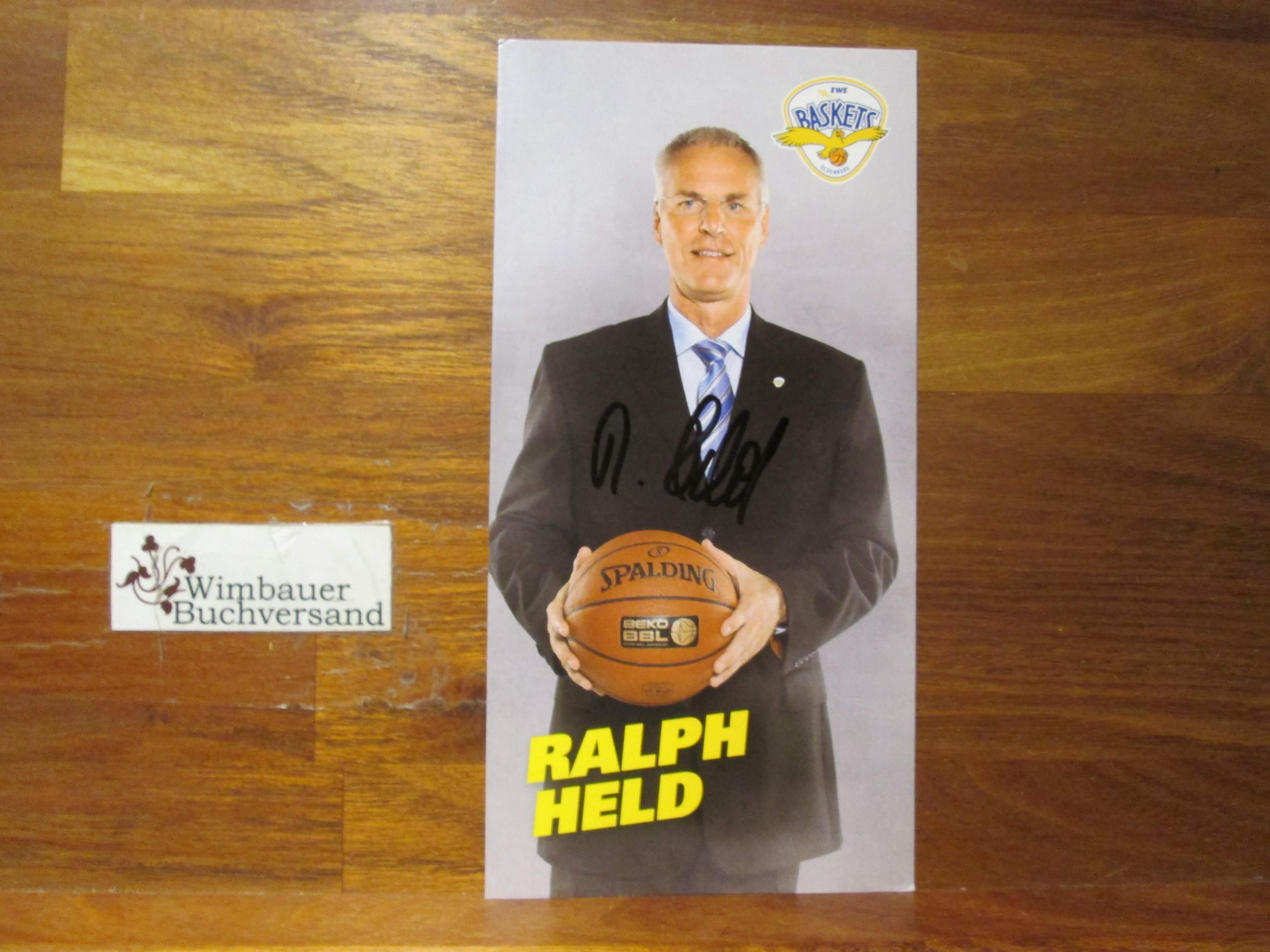 Original Autogramm Ralph Held Basketball /// Autogramm Autograph signiert signed signee