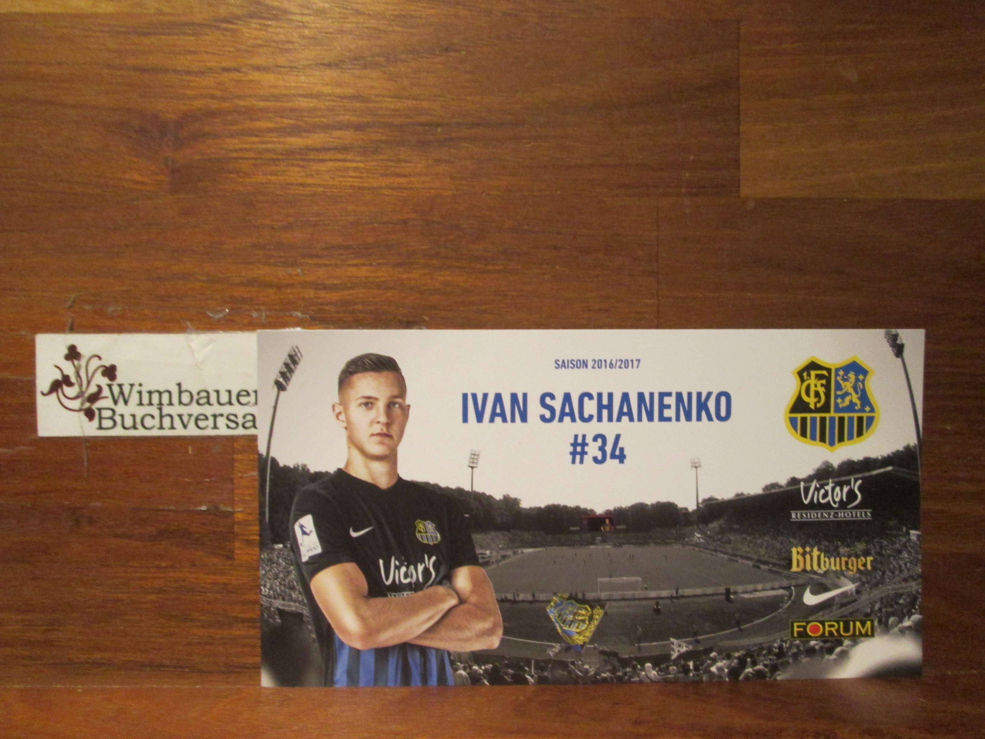 Autogrammkarte Ivan Sachanenko 1.FC Saarbrücken Saison 2016 2017