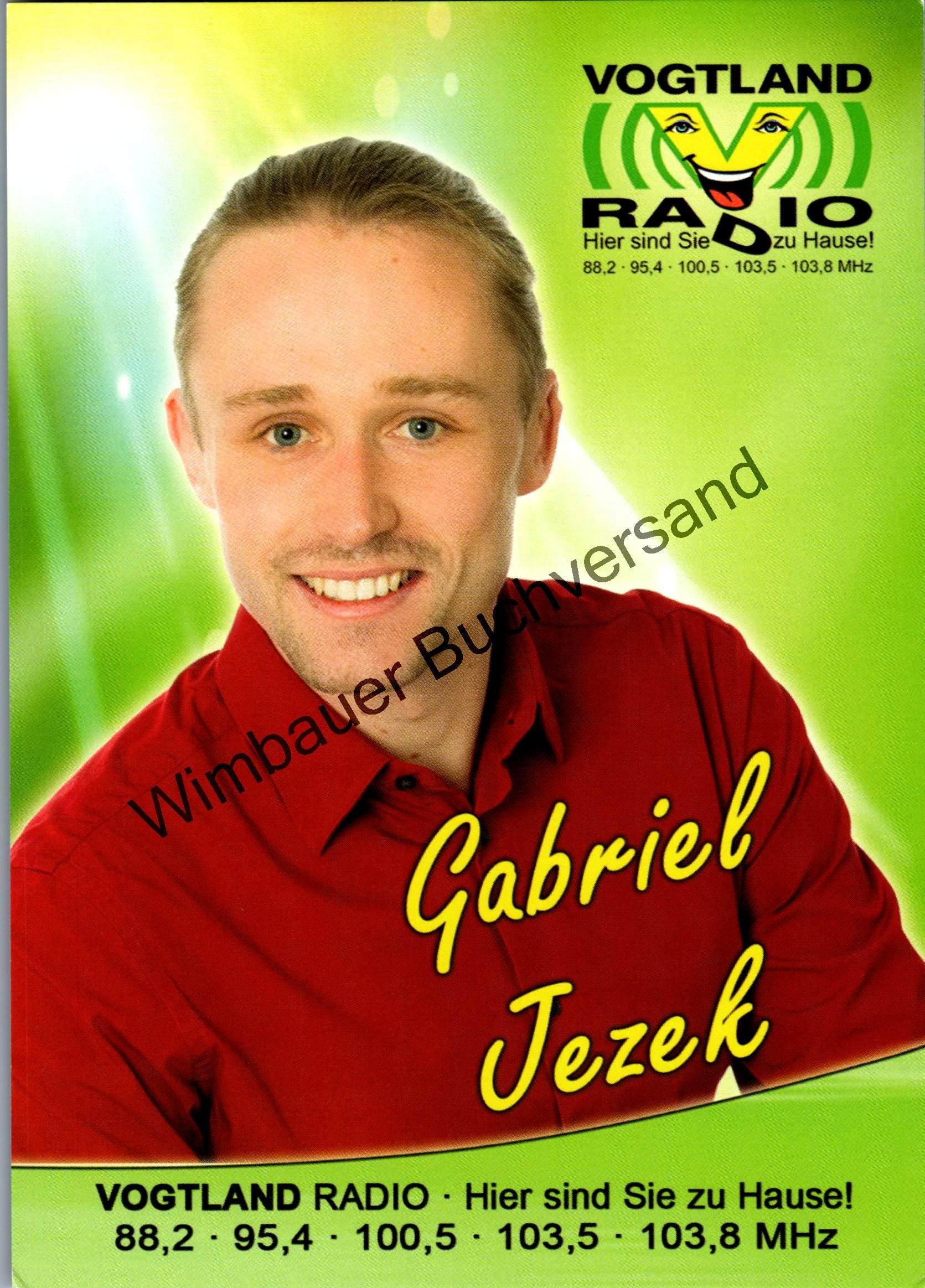 Autogrammkarte Gabriel Jezek Vogtland Radio