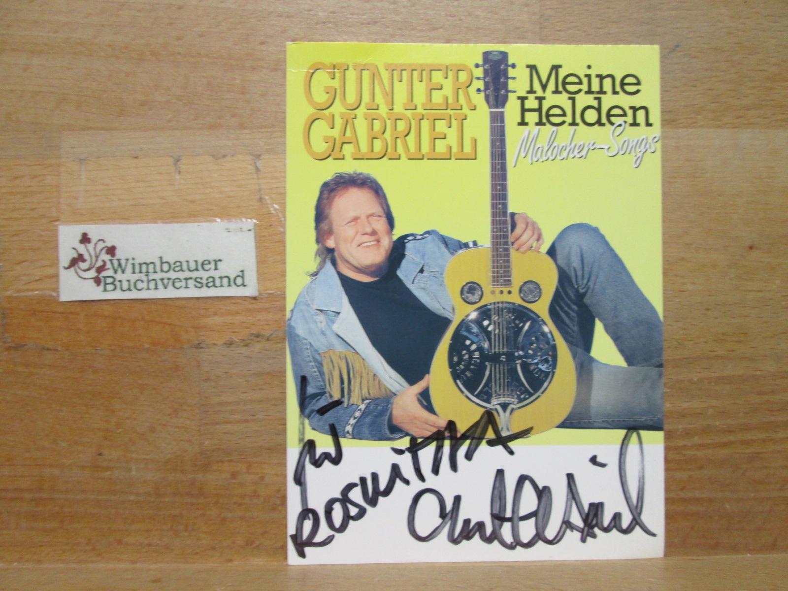 Original Autogramm Gunter Gabriel (1942-2017) /// Autogramm Autograph signiert signed signee