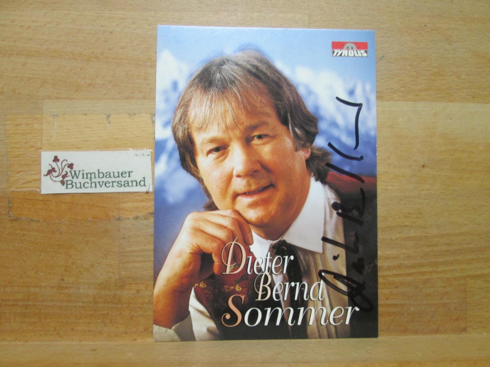Original Autogramm Dieter Bernd Sommer /// Autogramm Autograph signiert signed signee