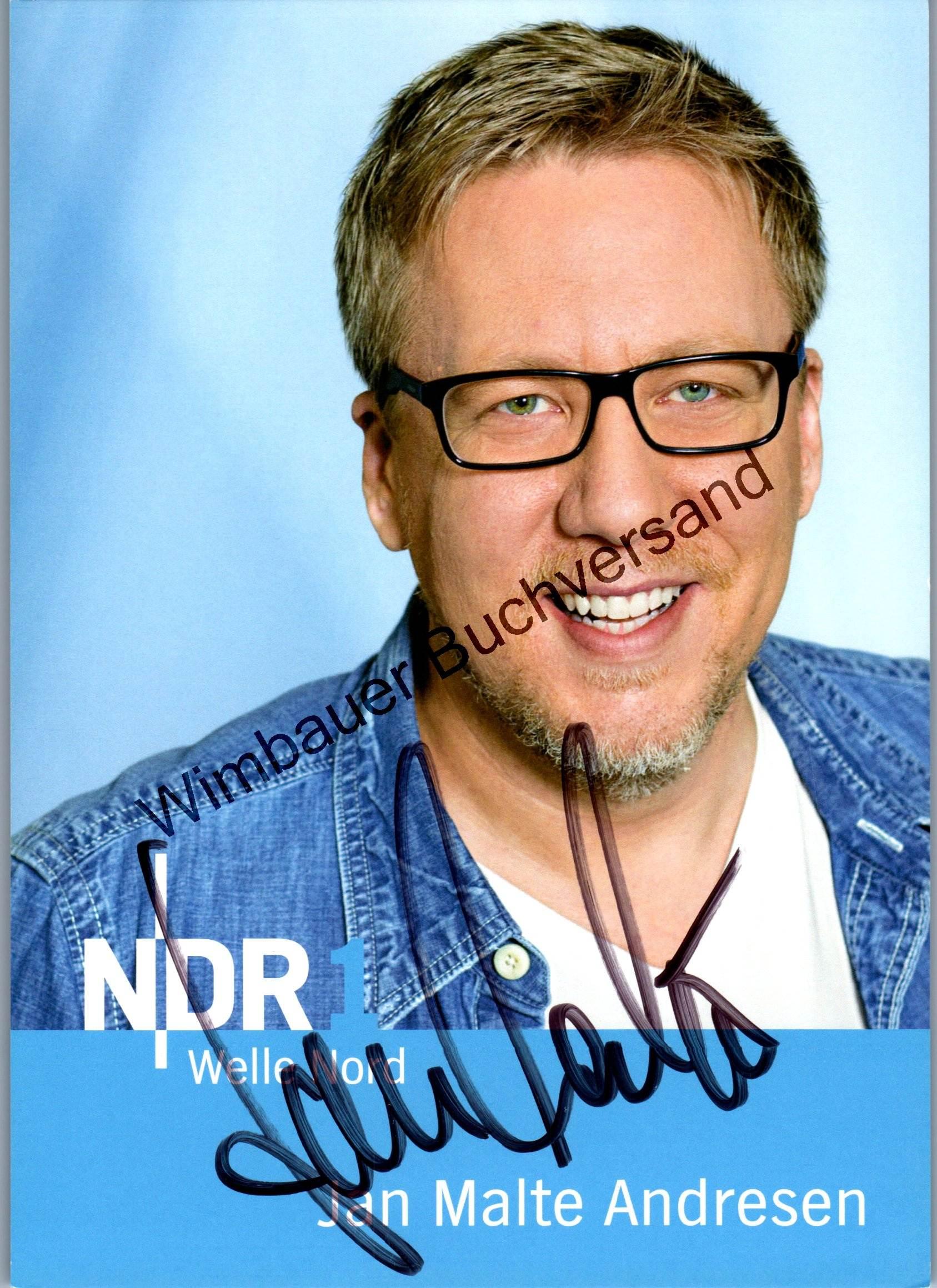 Original Autogramm Jan Malte Andresen Welle Nord NDR1 /// Autogramm Autograph signiert signed signee