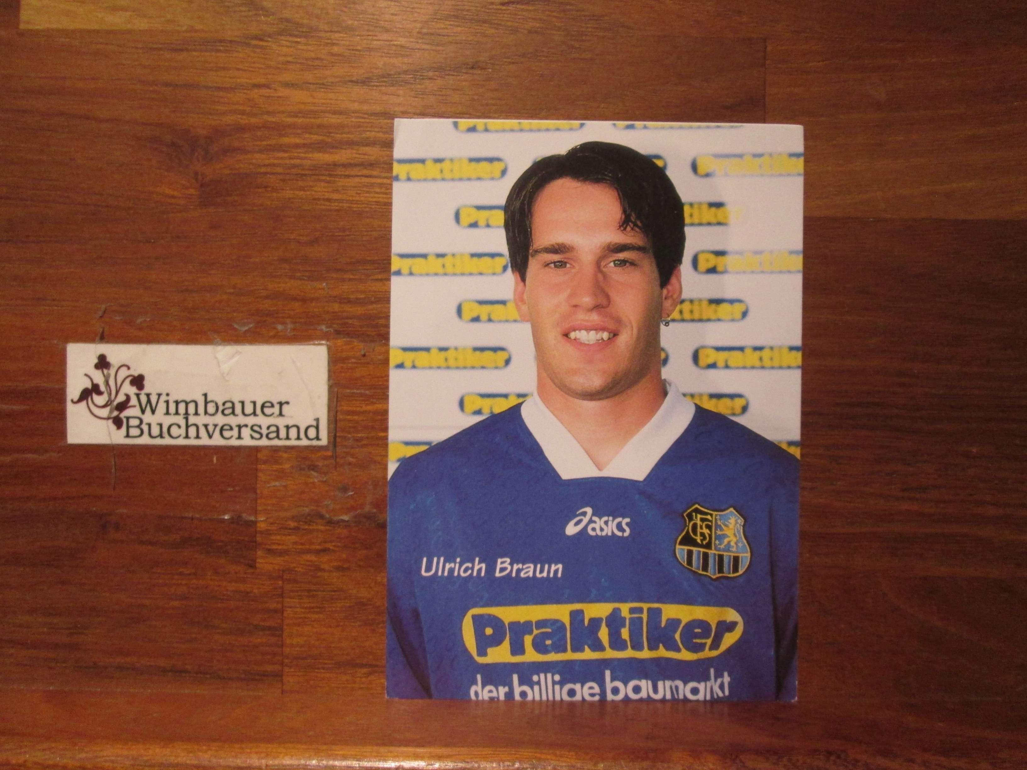 Braun, Ulrich : Photopostkarte Ulrich Braun 1. FC Saarbrücken