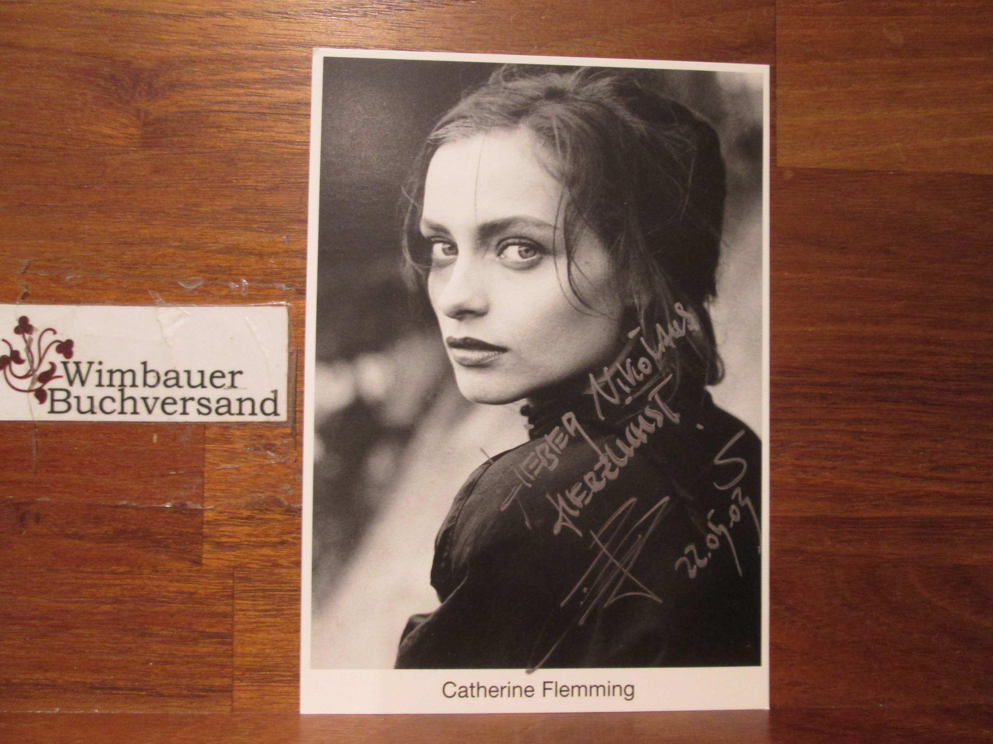 Original Autogramm Catherine Flemming /// Autograph signiert signed signee