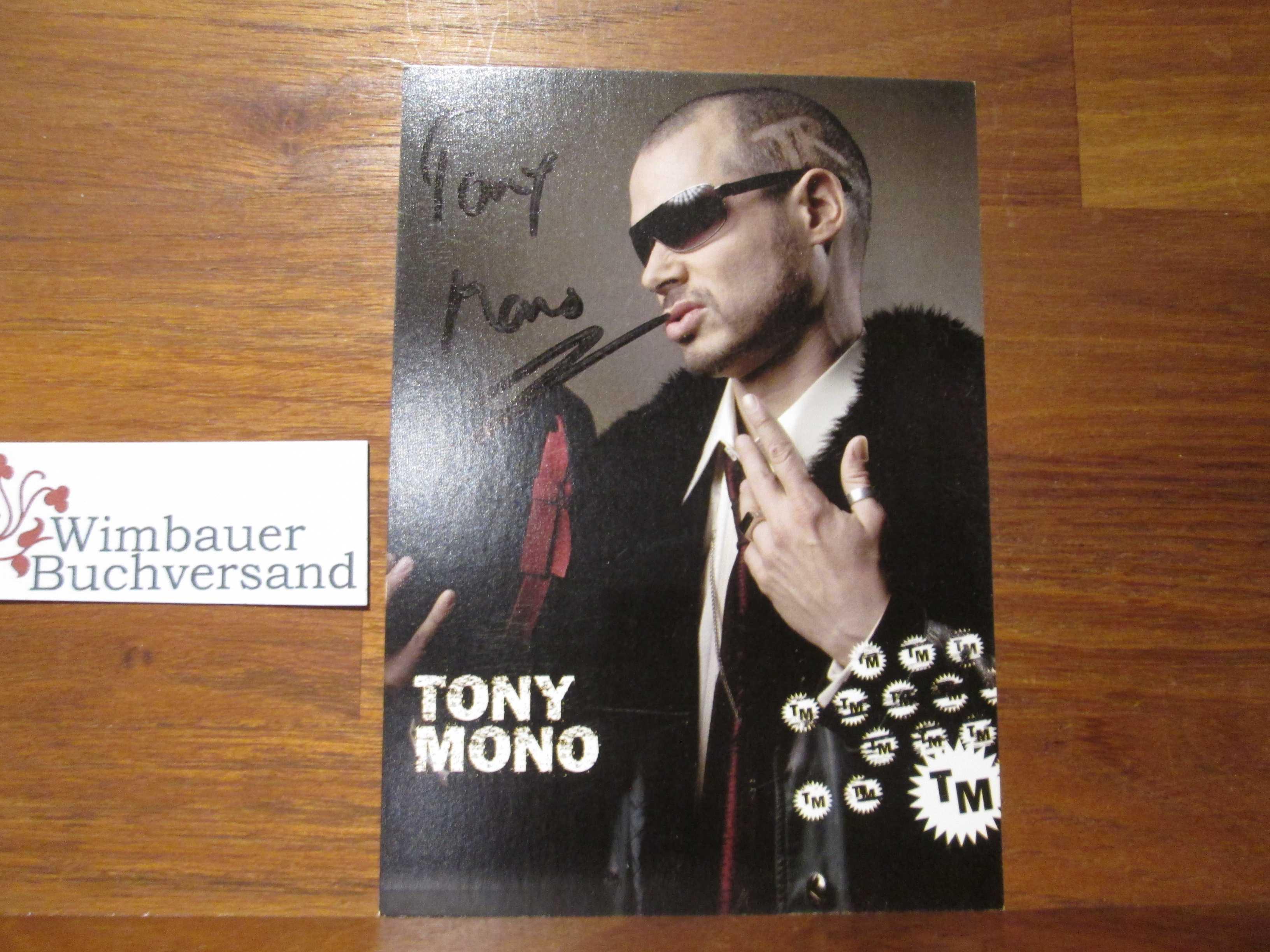 Original Autogramm Tony Mono Peter Saurbier /// Autograph signiert signed signee