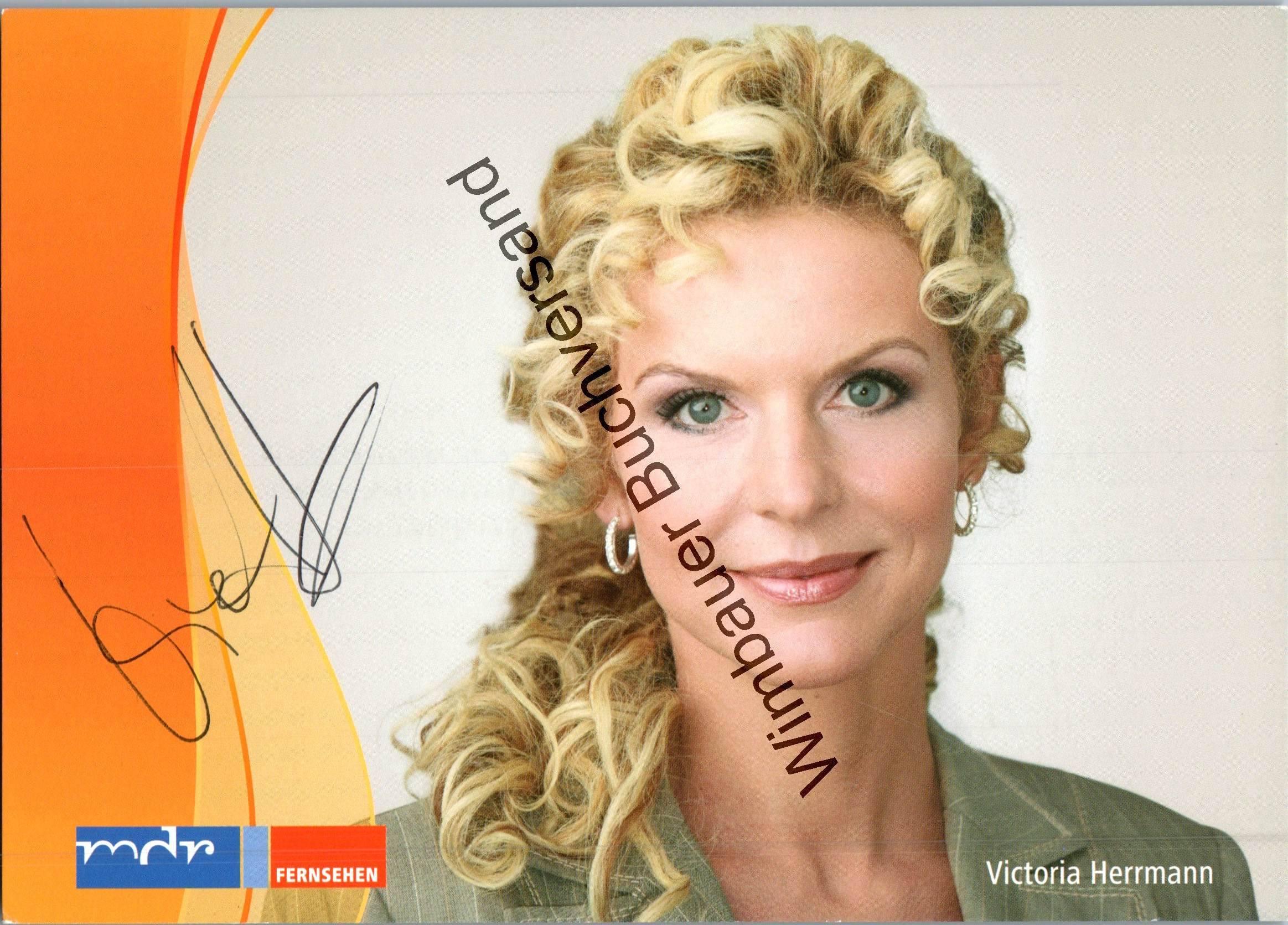 Originalautogramm Victoria Herrmann /// Autogramm Autograph signiert signed signee