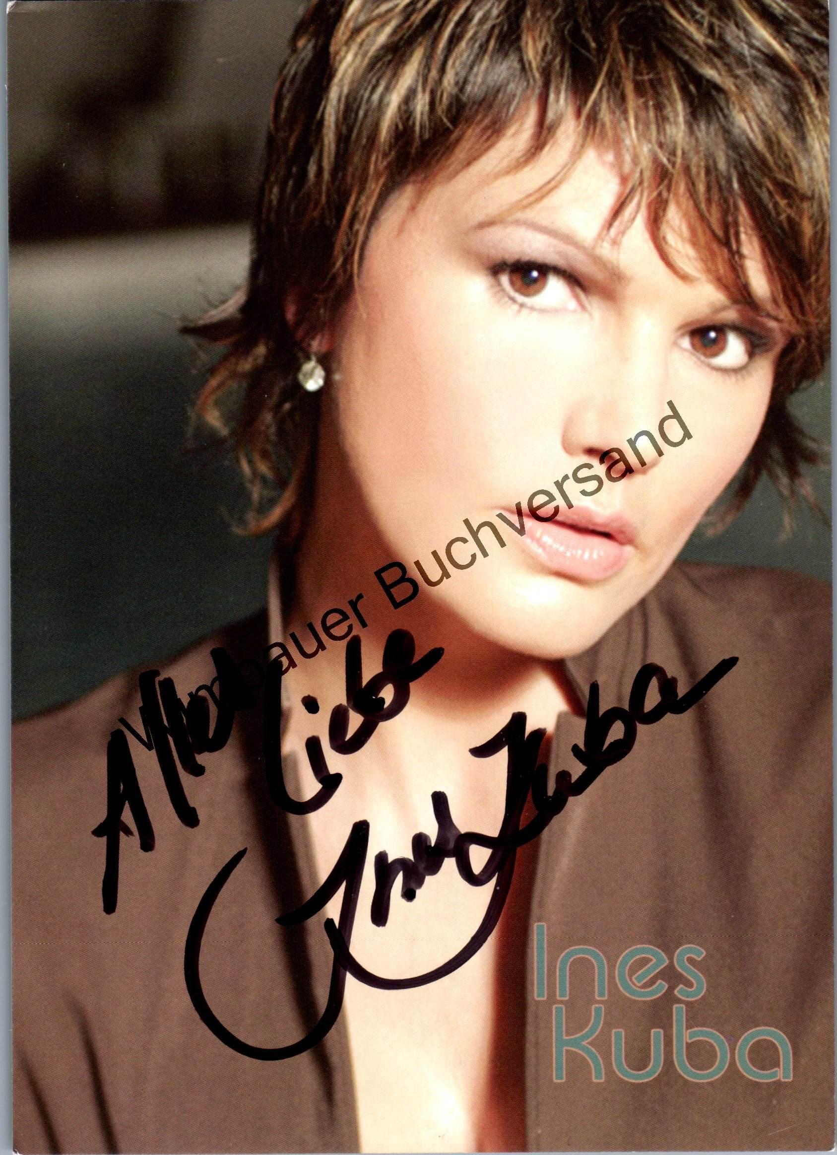 Original Autogramm Ines Kuba Miss World /// Autograph signiert signed signee