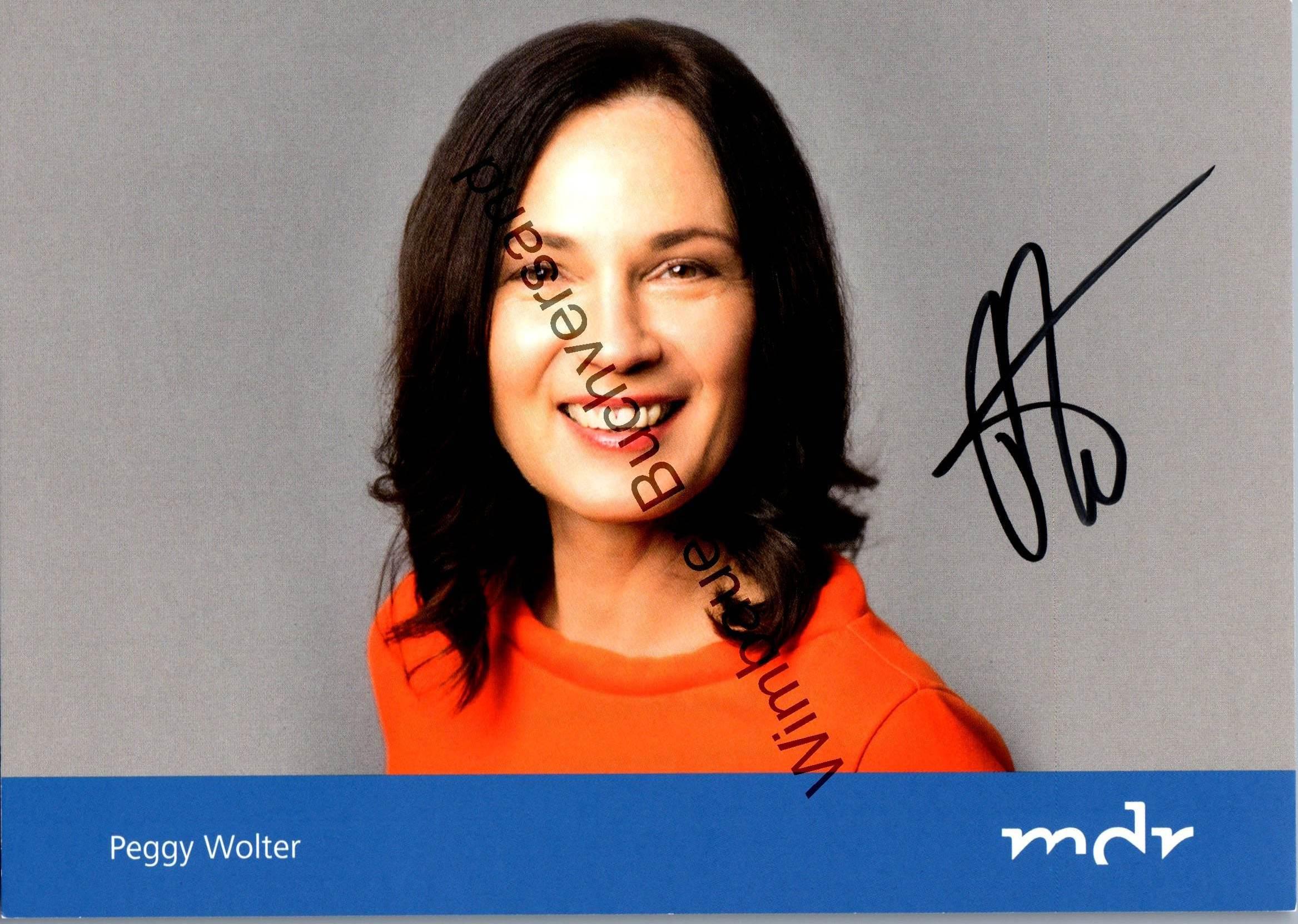 Original Autogramm Peggy Wolter Radio Sachsen MDR /// Autogramm Autograph signiert signed signee