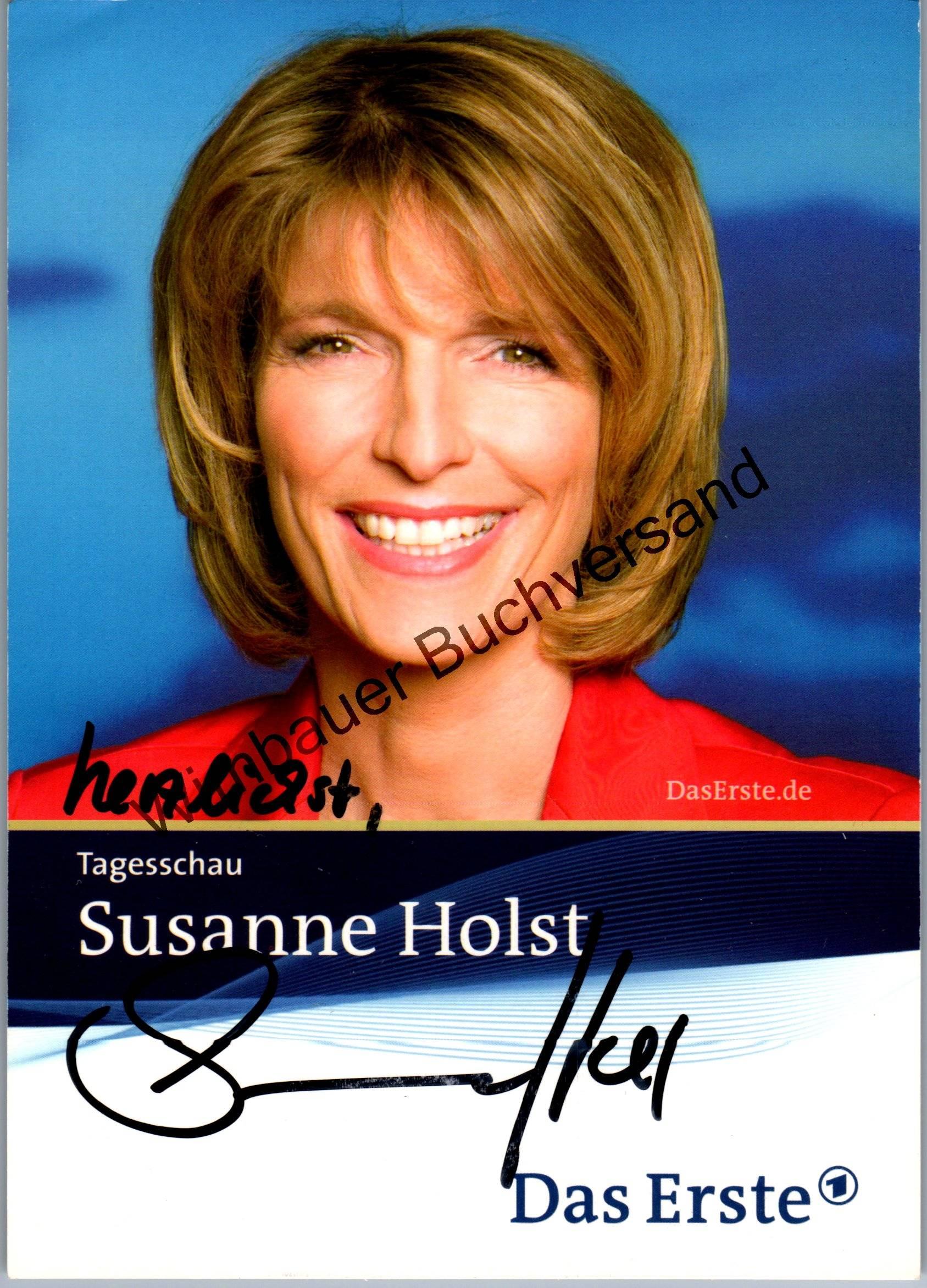 Original Autogramm Susanne Holst Tagesschau /// Autograph signiert signed signee