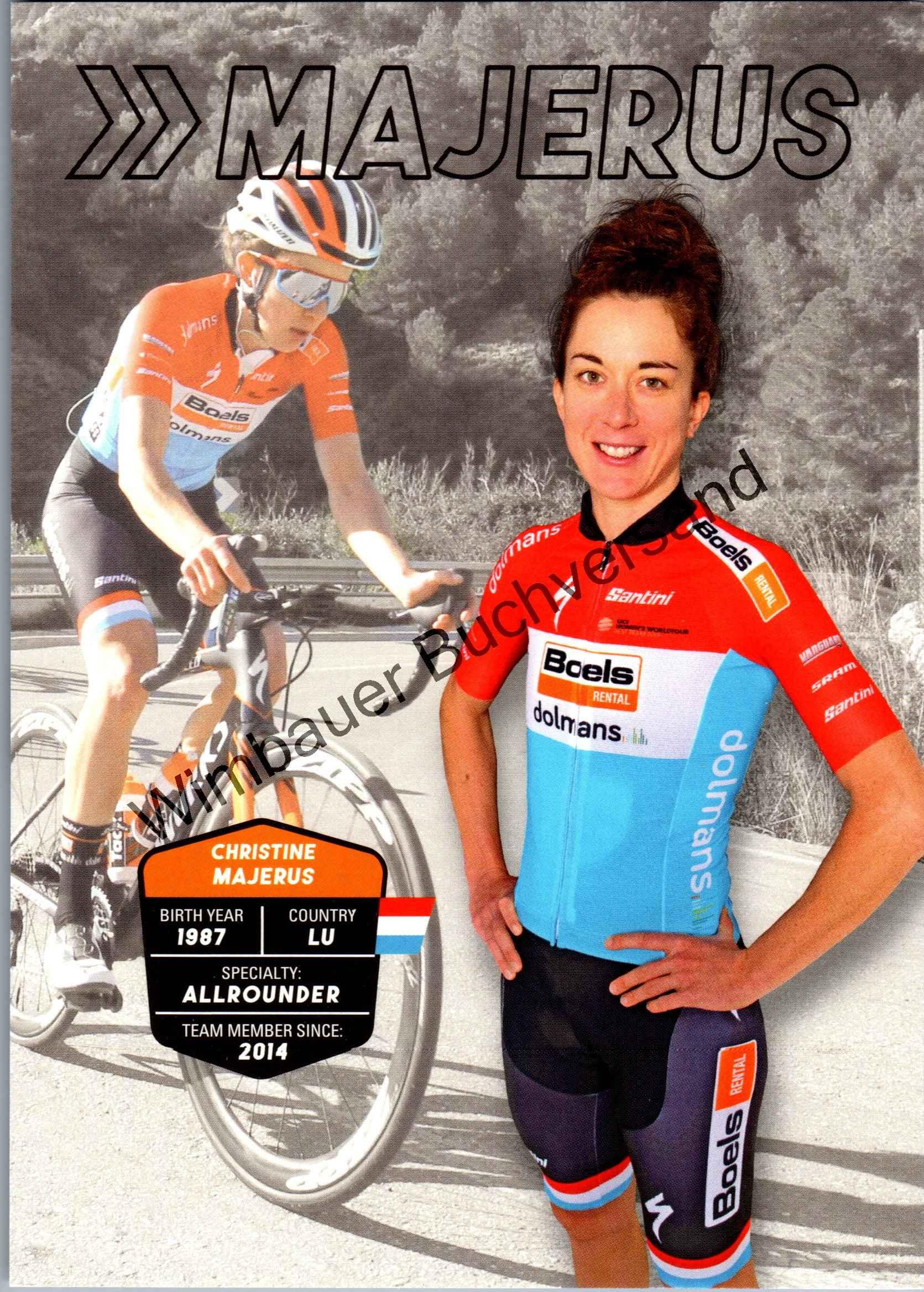 Autogrammkarte Christine Majerus