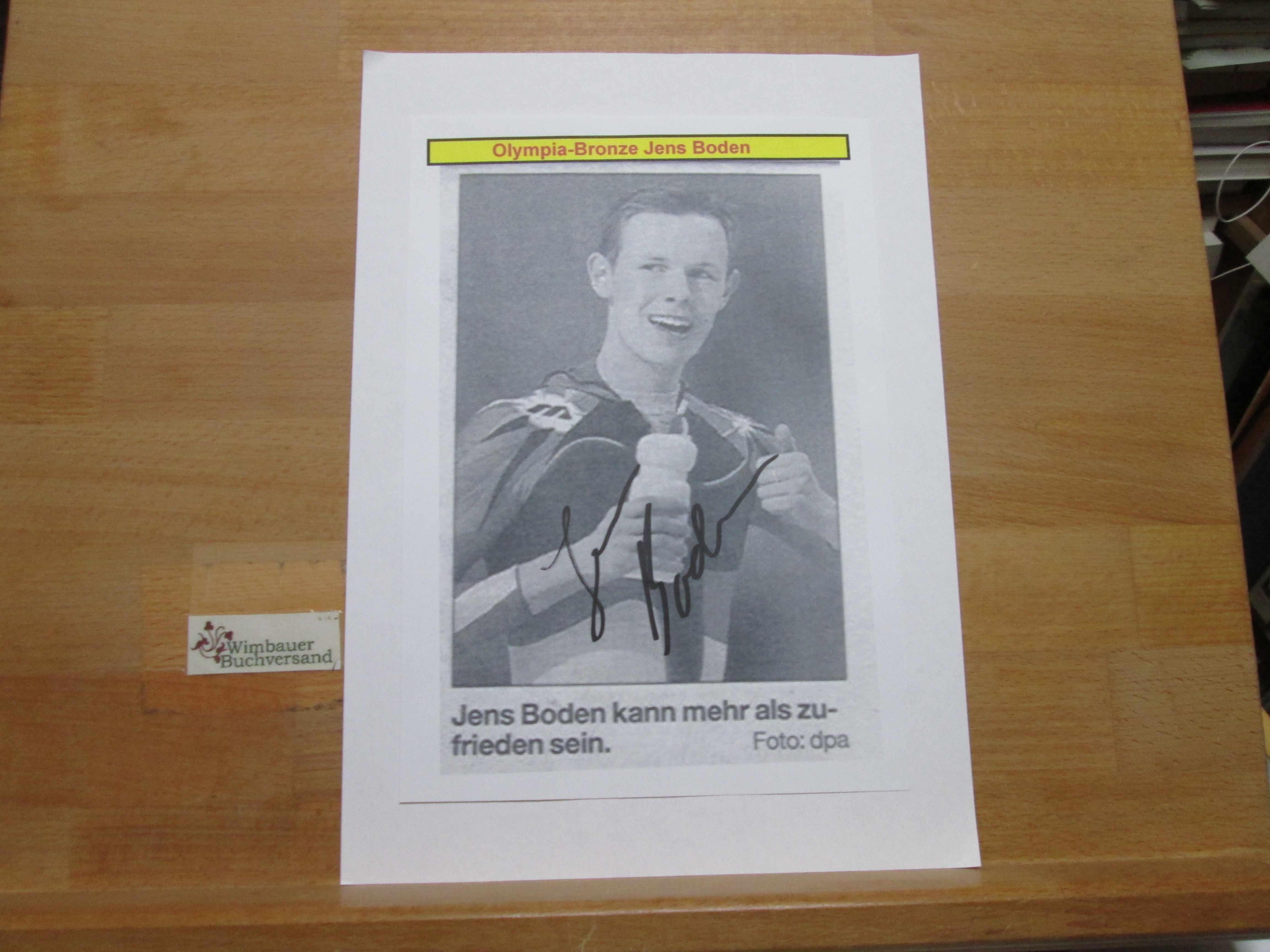 Original Autogramm Jens Boden Eisschnellauf /// Autogramm Autograph signiert signed signee