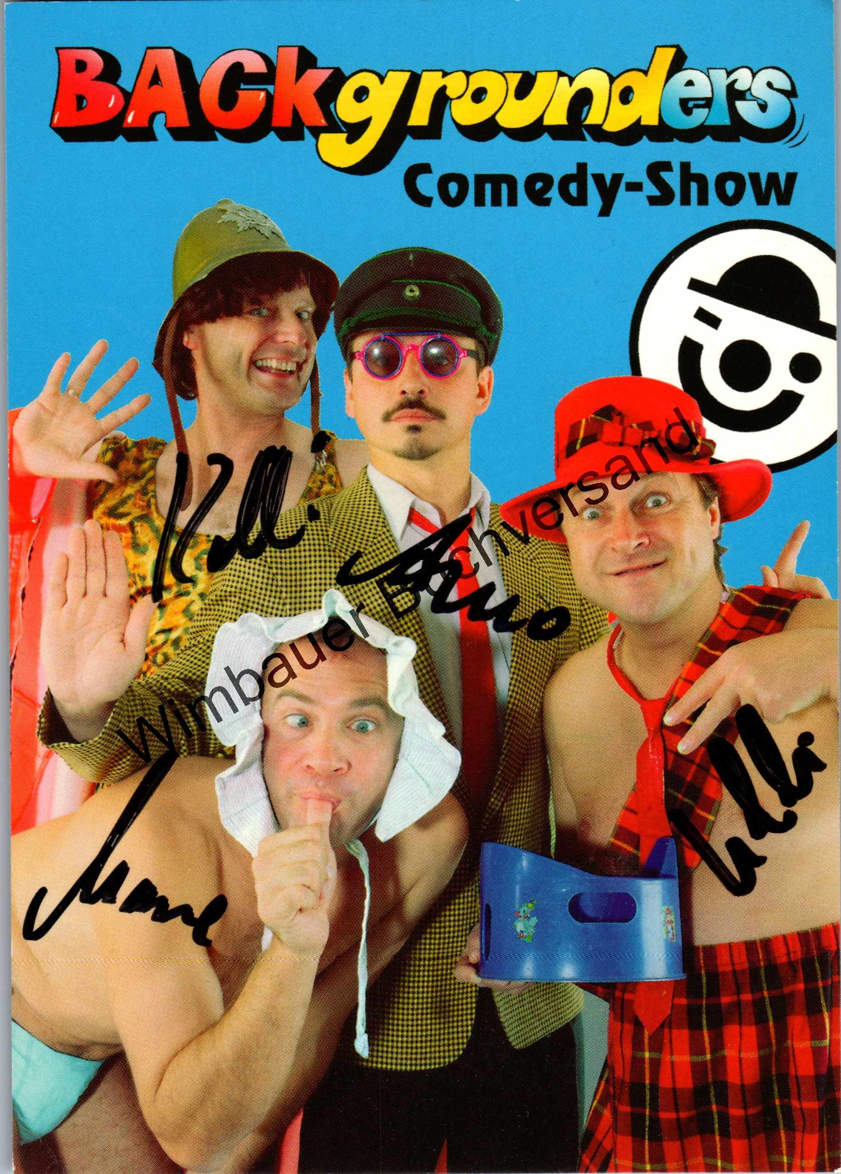 Original Autogramm Backgrounders Comedy-Show /// Autograph signiert signed signee