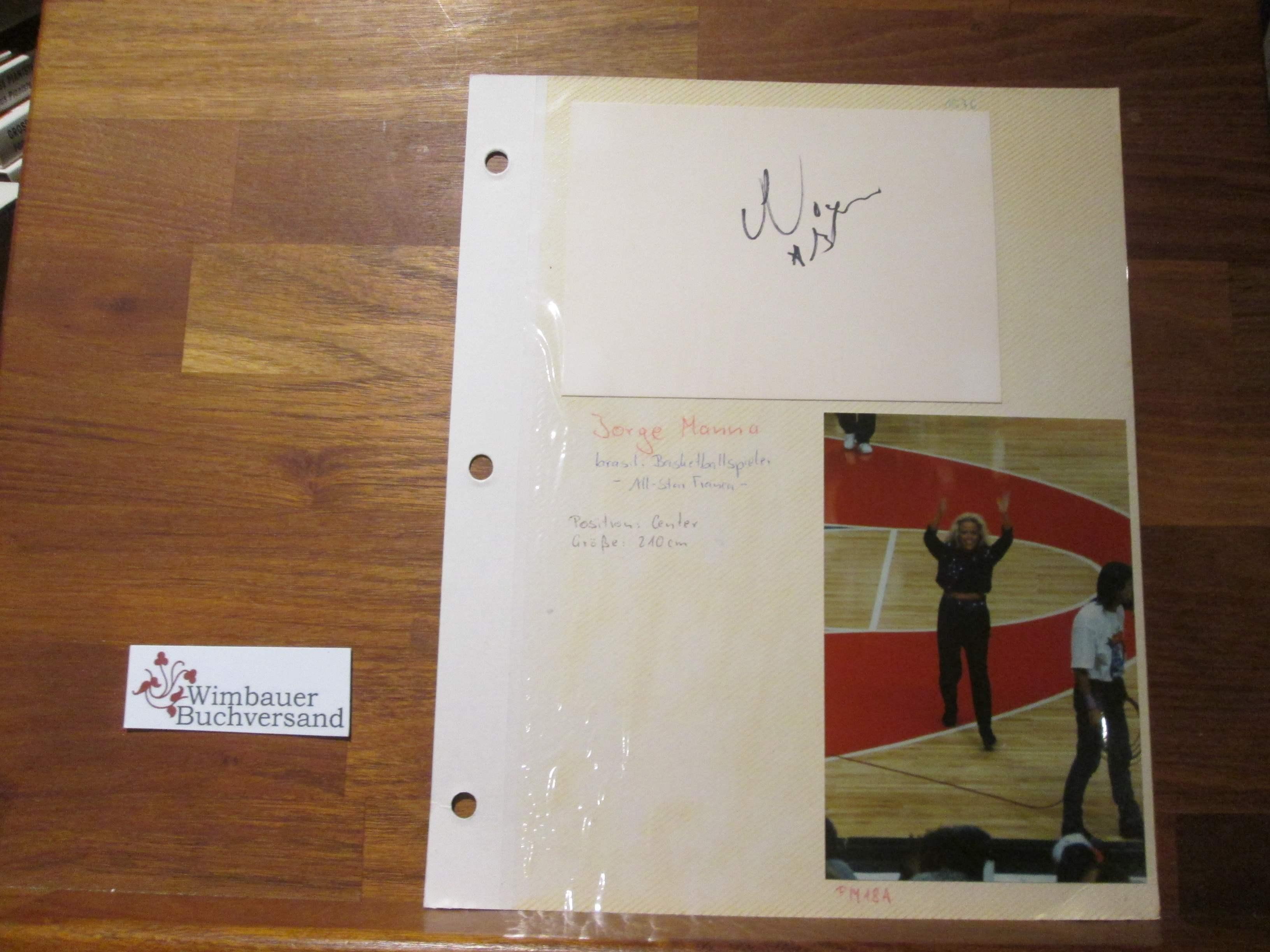 Original Autogramme Jorge Manna, Harold Morgan und Heimo Förster Basketball /// Autograph signiert signed signee