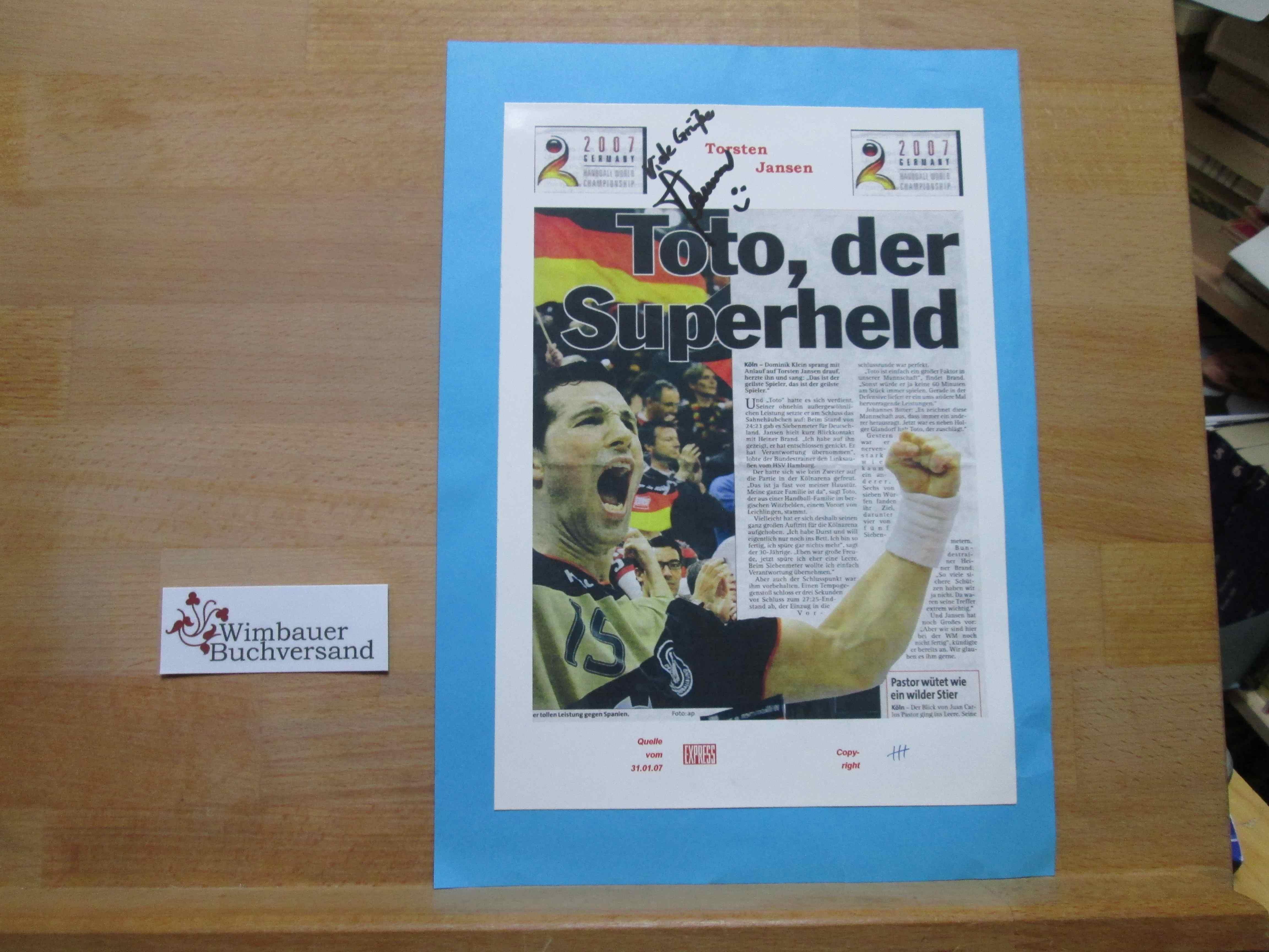 Original Autogramm Torsten Jansen Handball /// Autograph signiert signed signee