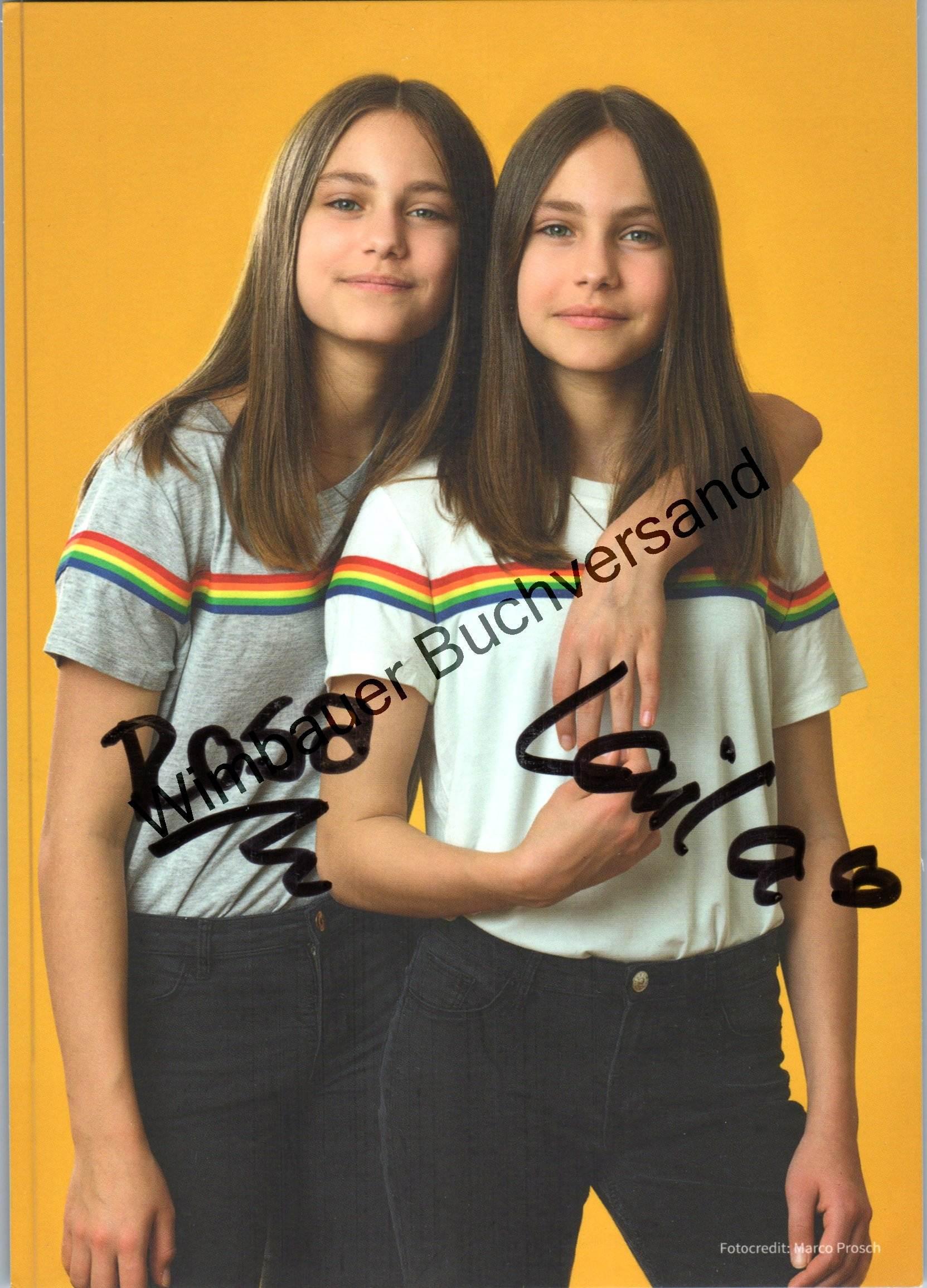 Original Autogramm Rosa & Laila Meinecke /// Autograph signiert signed signee