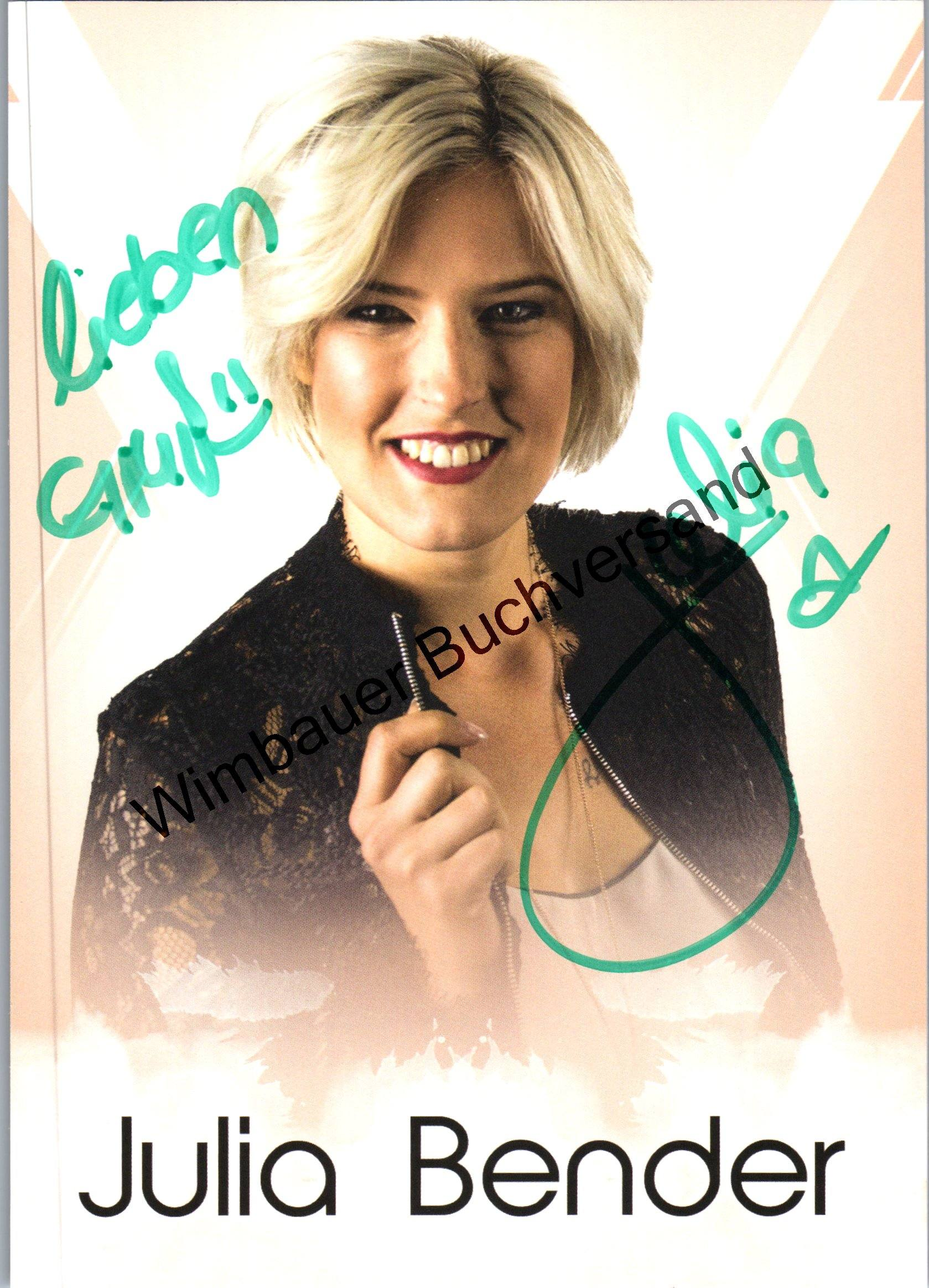 Original Autogramm Julia Bender /// Autograph signiert signed signee