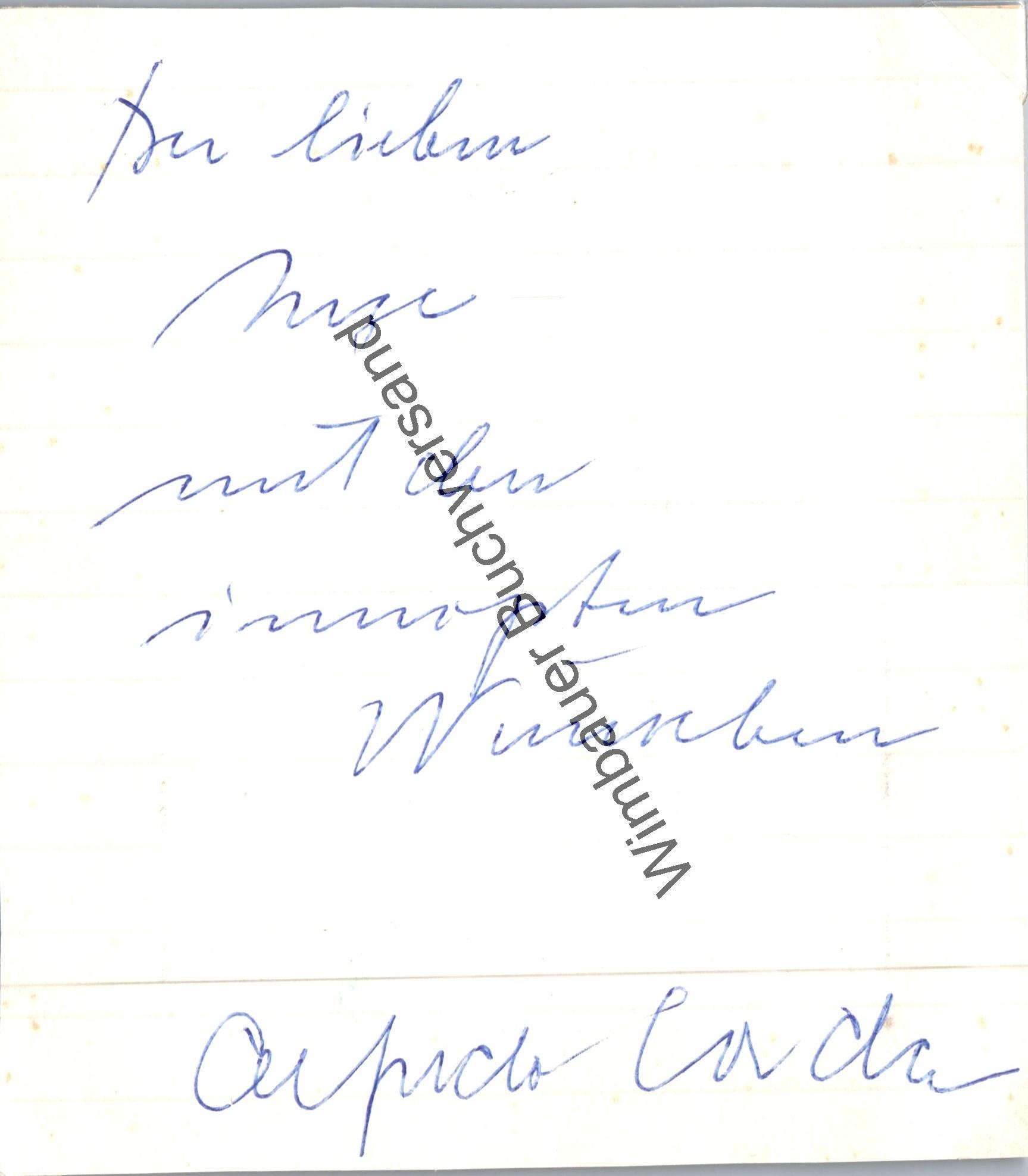 Original Autogramm Alfredo Corda (1922-1978) /// Autograph signiert signed signee
