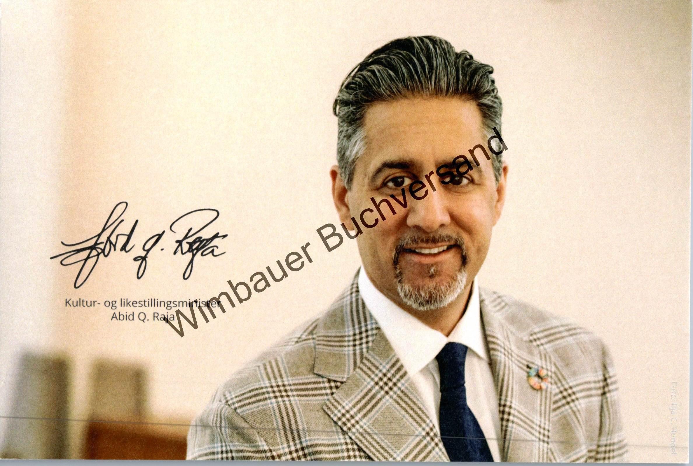 Autogrammkarte Abid Raja Kulturminister Norwegen /// Autogramm Autograph signiert signed signee