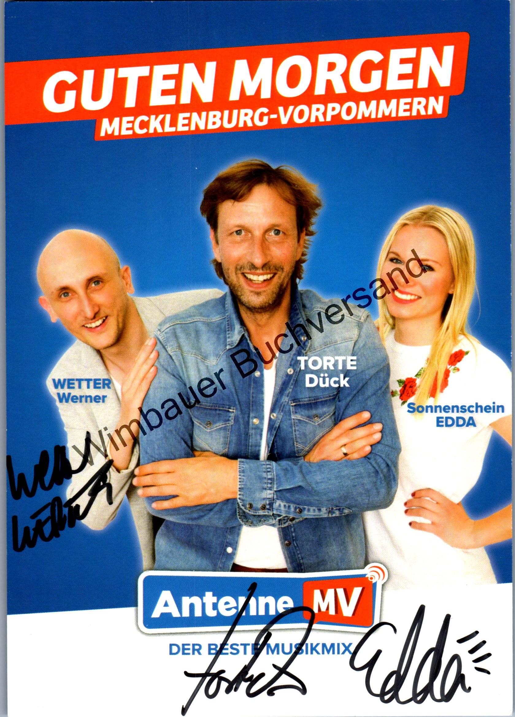 Original Autogramm Torsten Torte Dück Wetter Werner Sonnenschein Edda Antenne MV /// Autogramm Autograph signiert signed signee