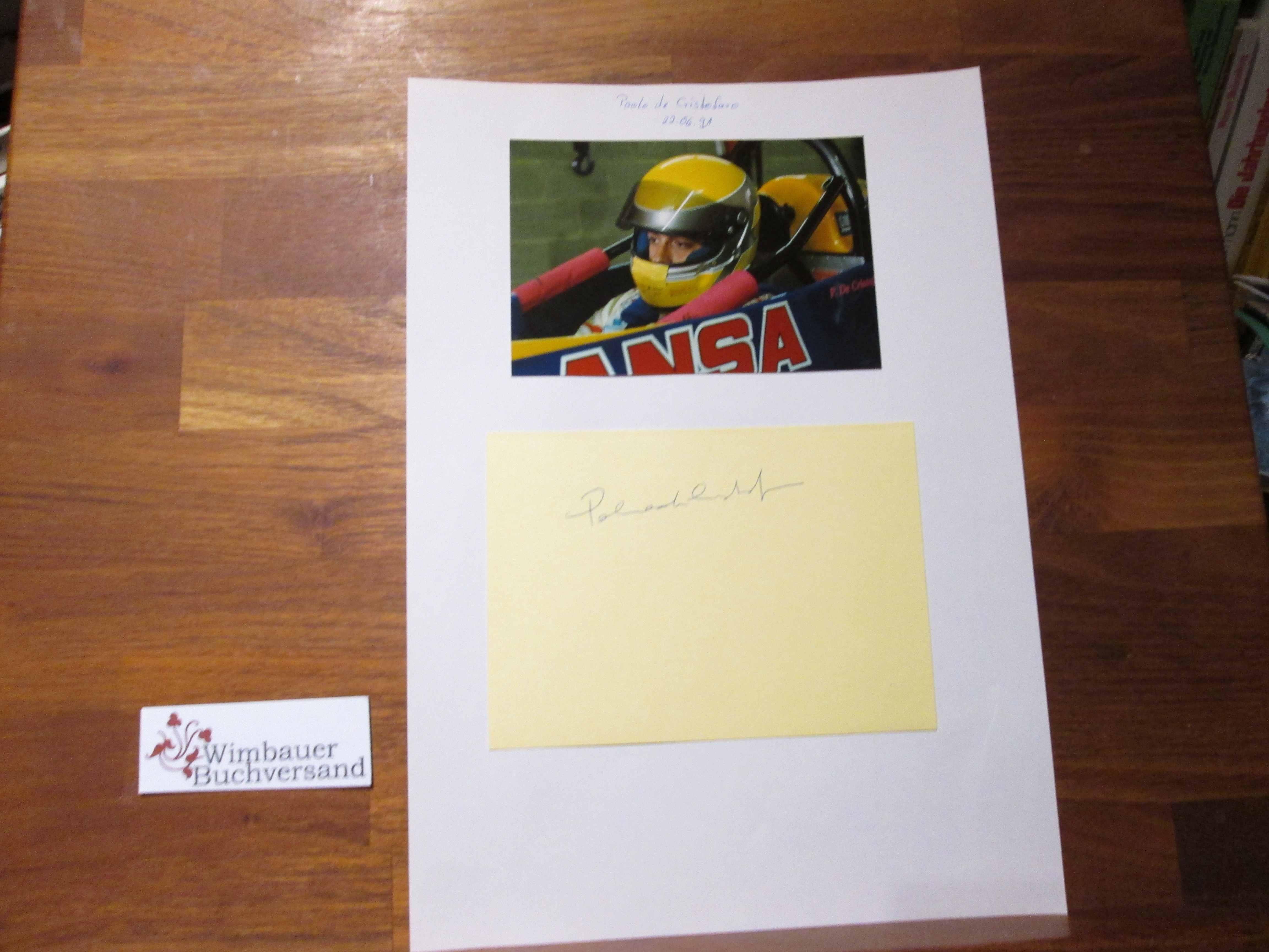 Cristofaro, Paolo de : Original Autogramm Paolo de Cristofaro racing Driver /// Autograph signiert signed signee