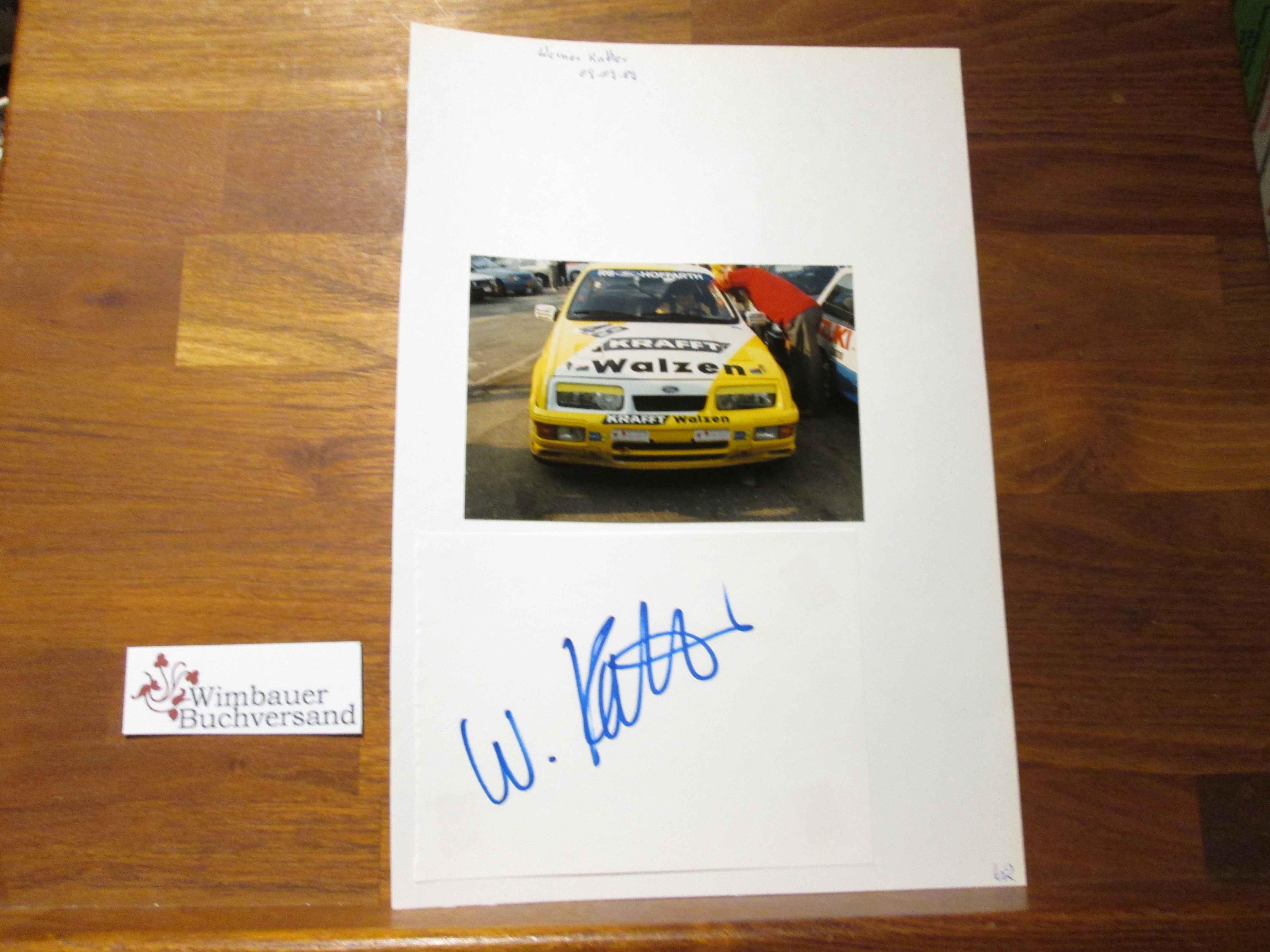 Kather, Werner und Dieter Martin : Original Autogramm Werner Kather + Dieter Martin racing Driver /// Autograph signiert signed signee