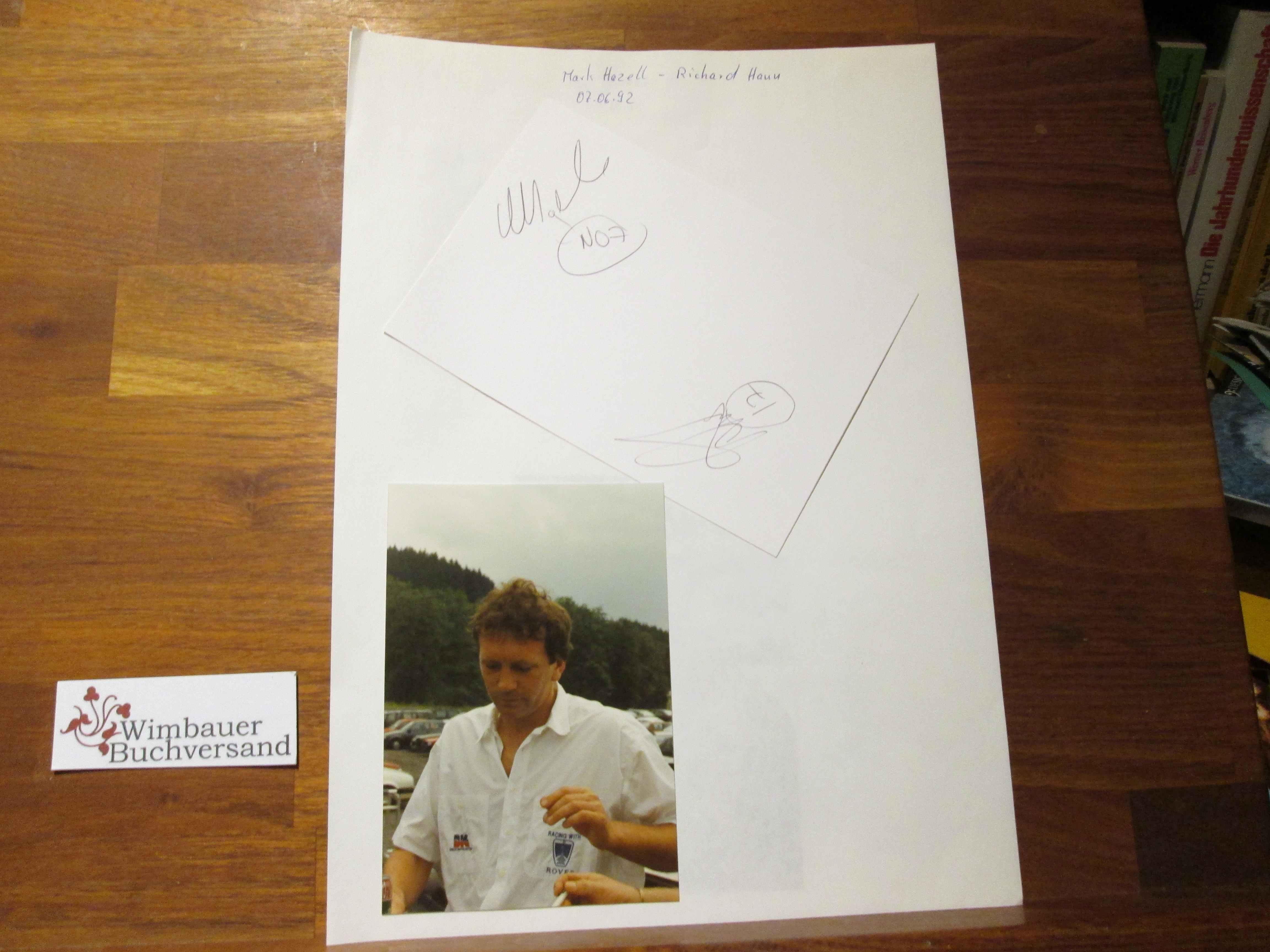 Original Autogramm Mark Hazell + Richard Hann racing Driver /// Autograph signiert signed signee
