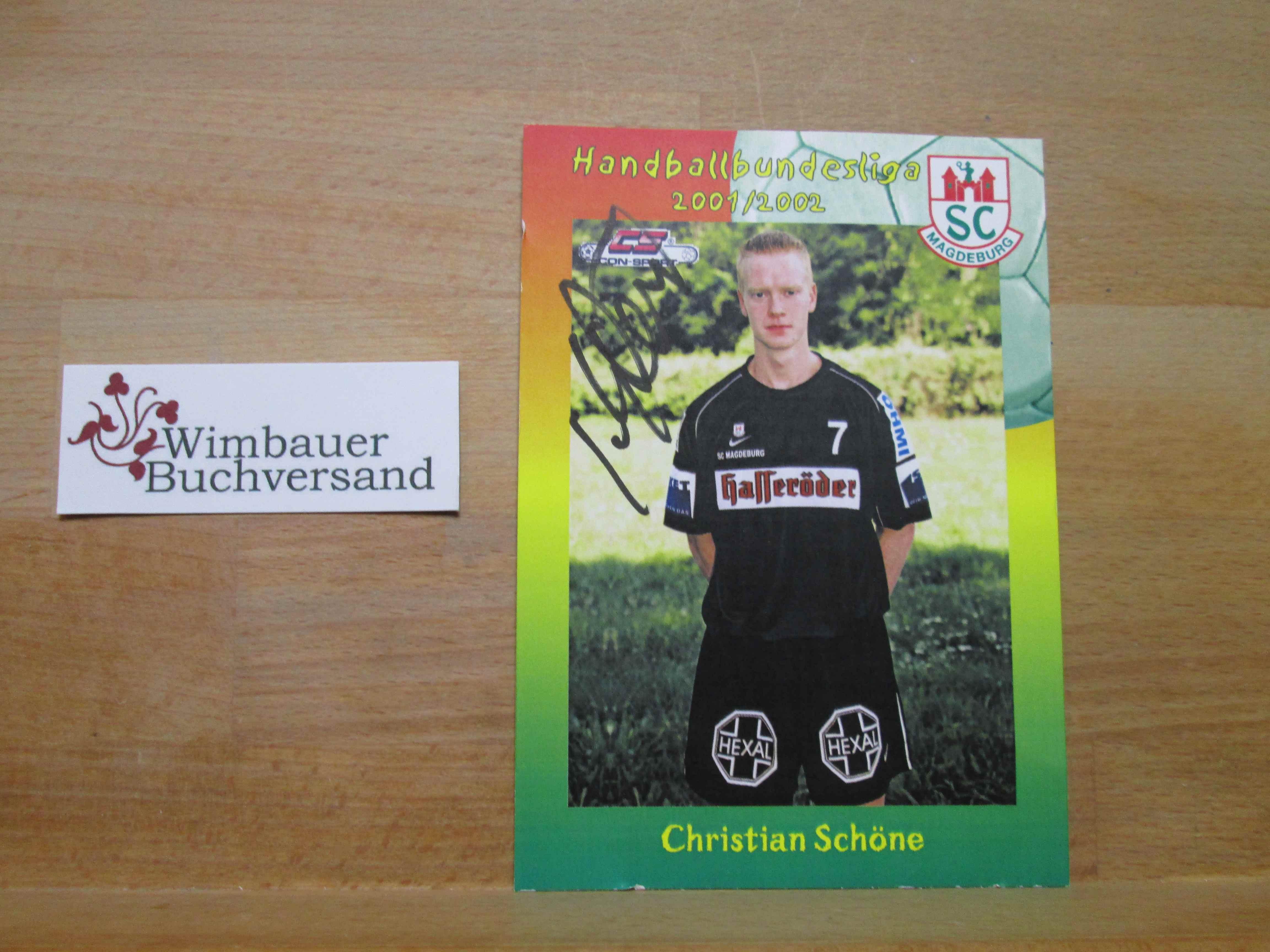 Original Autogramm Christian Schöne SC Magdeburg Handball /// Autogramm Autograph signiert signed signee Saison 2001 / 2002