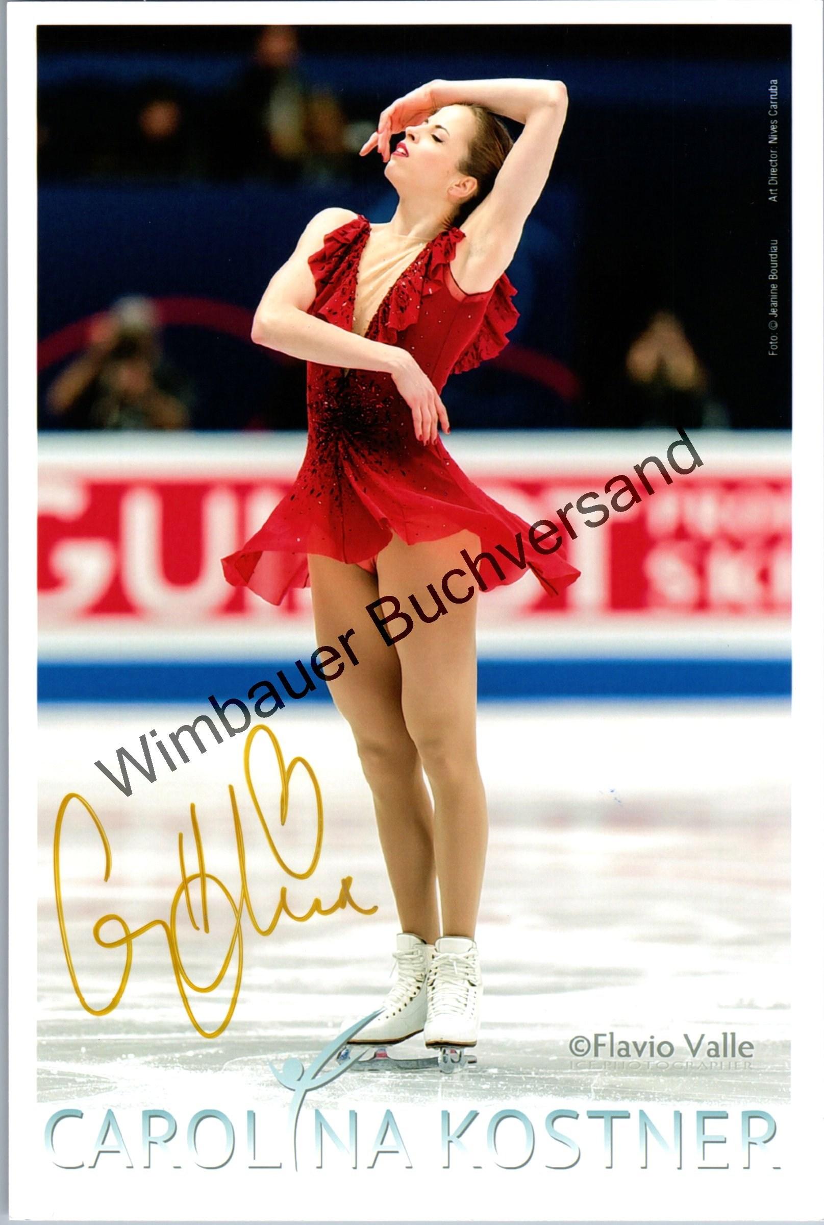 Original Autogramm Carolina Kostner Eiskunstlauf /// Autograph signiert signed signee