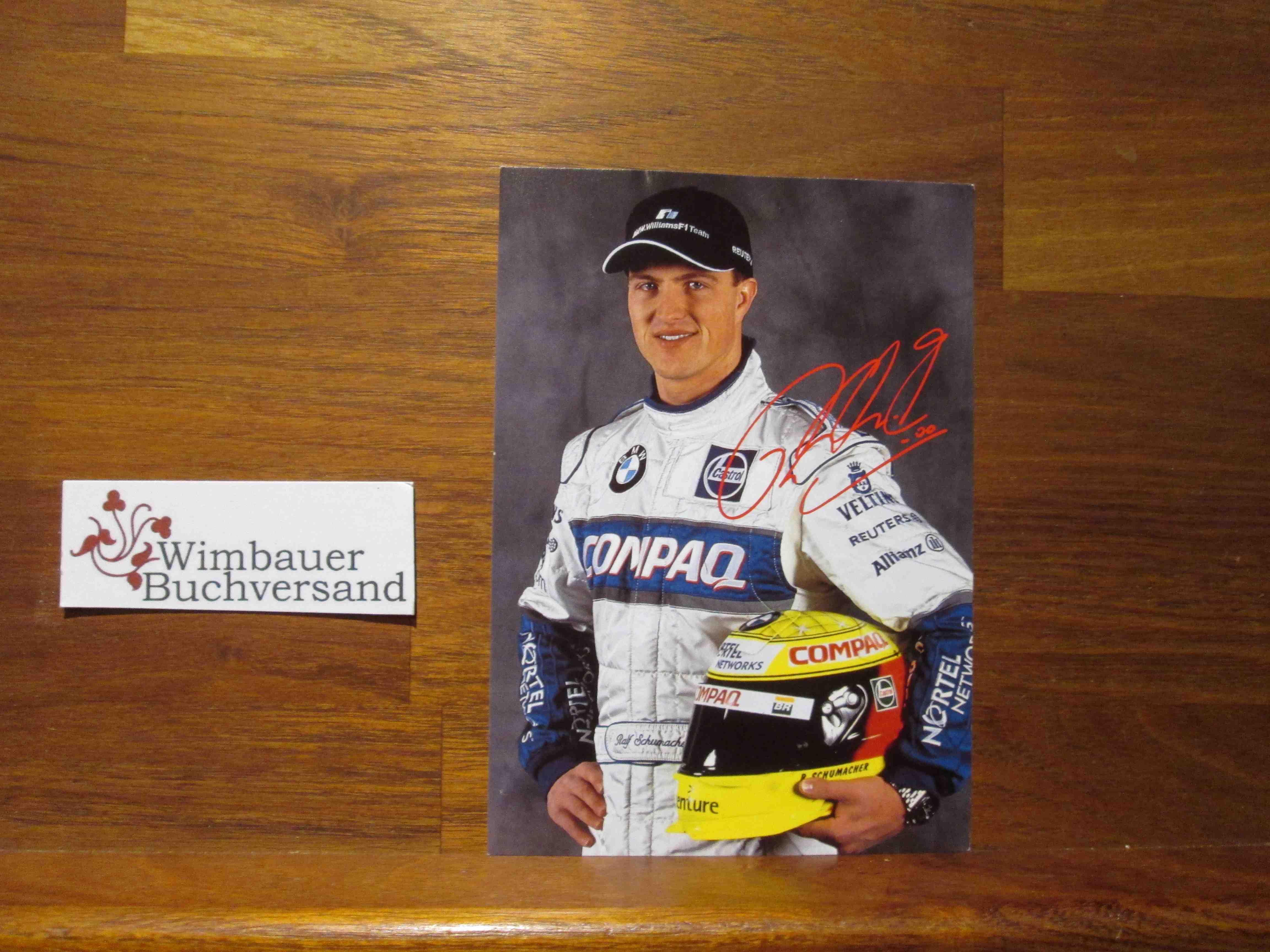 Autogrammkarte Ralf Schumacher Formel 1