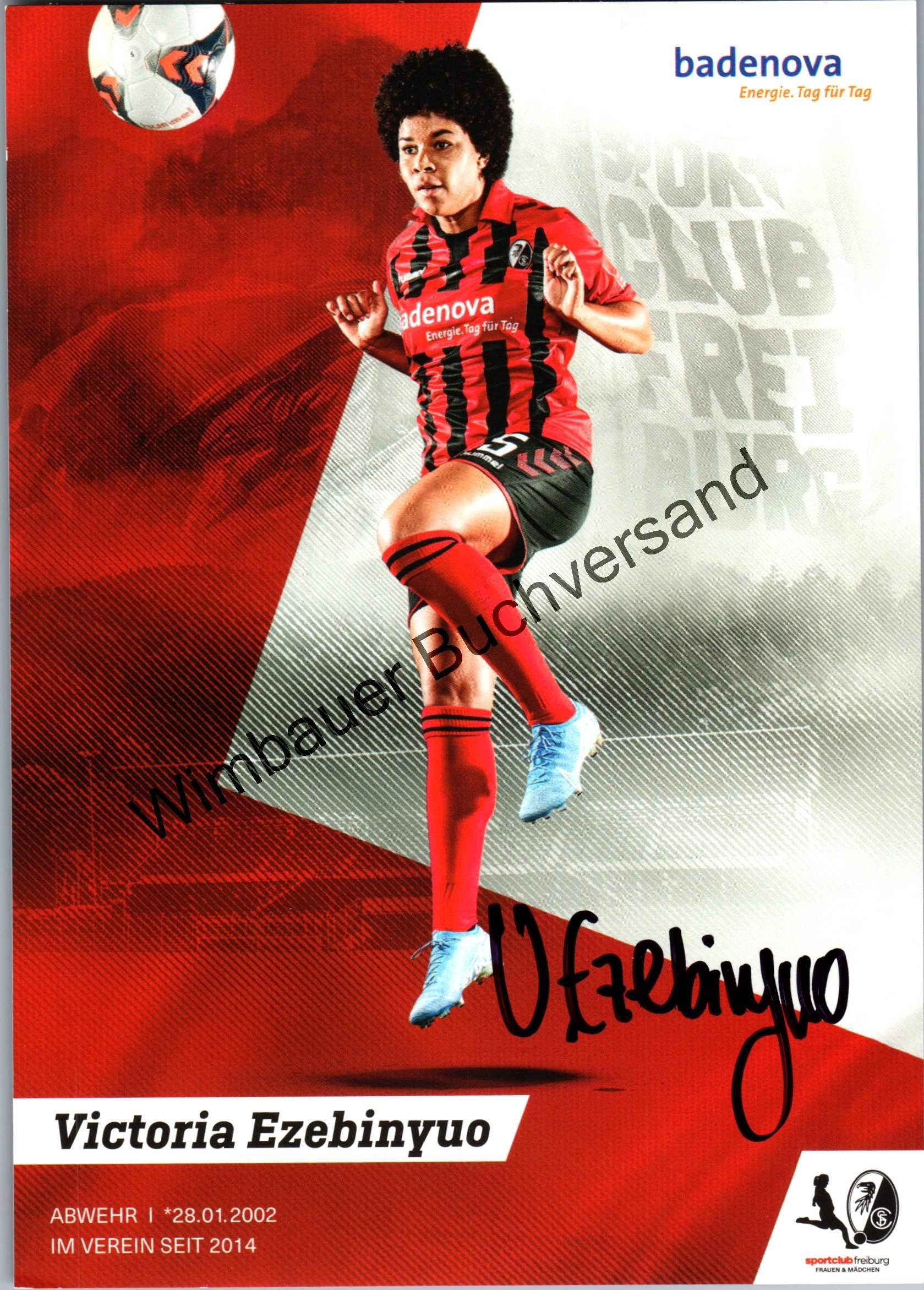 Original Autogramm Victoria Ezebinyuo SC Freiburg Frauen /// Autograph signiert signed signee