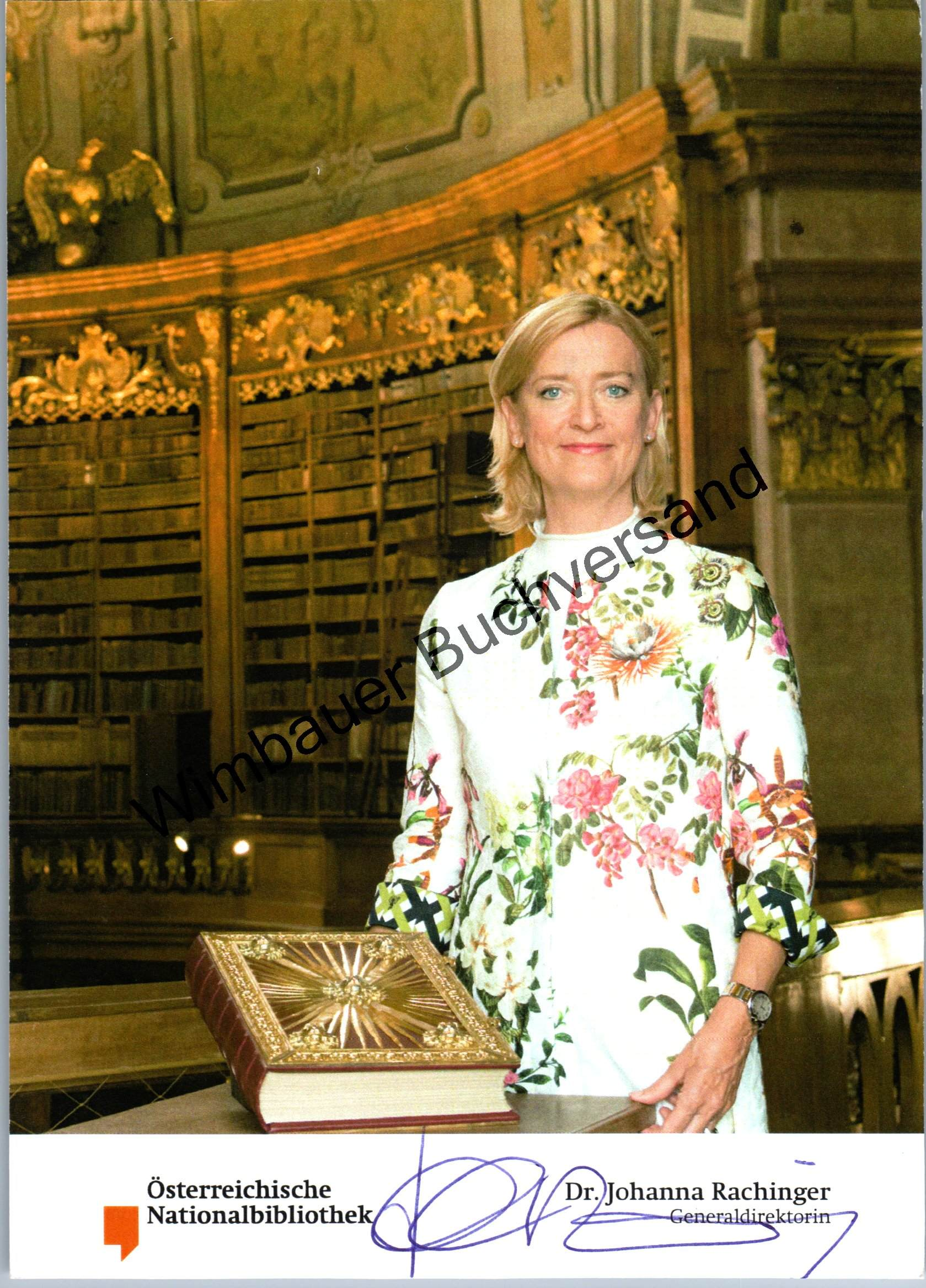 2x Original Autogramm Johanna Rachinger Österreichische Nationalbibliothek /// Autograph signiert signed signee