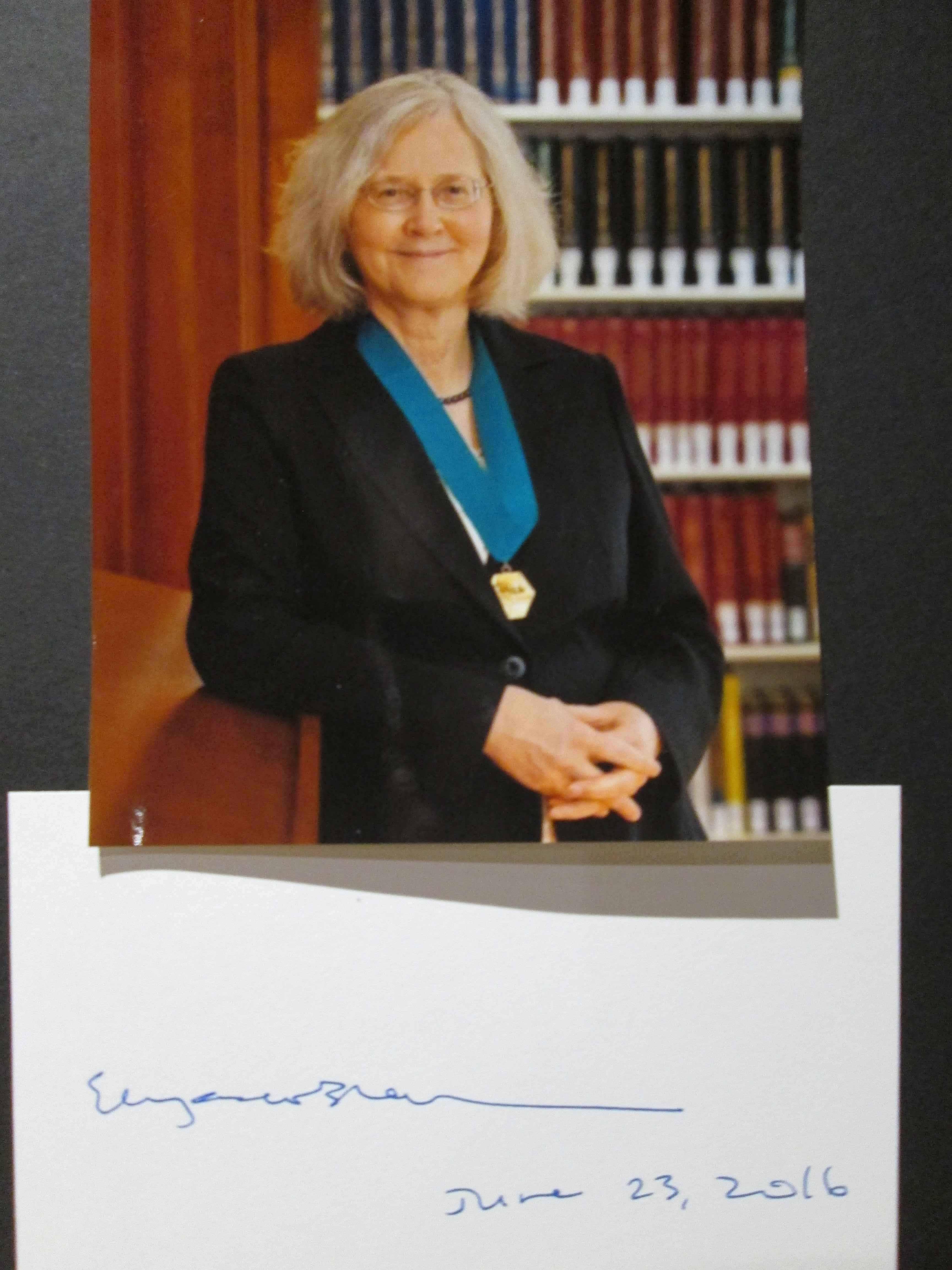 "Original Autogramm Elizabeth Helen ""Liz"" Blackburn Nobelpreis 2009 Autograph Nobel Prize"