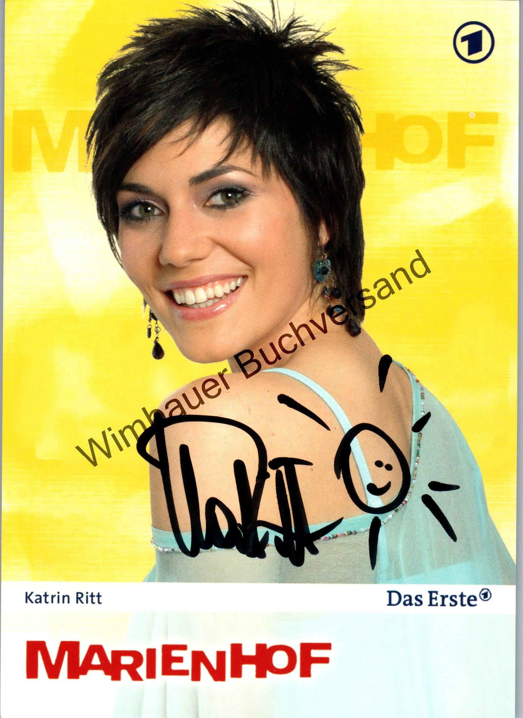Original Autogramm Katrin Ritt Marienhof ARD /// Autograph signiert signed signee