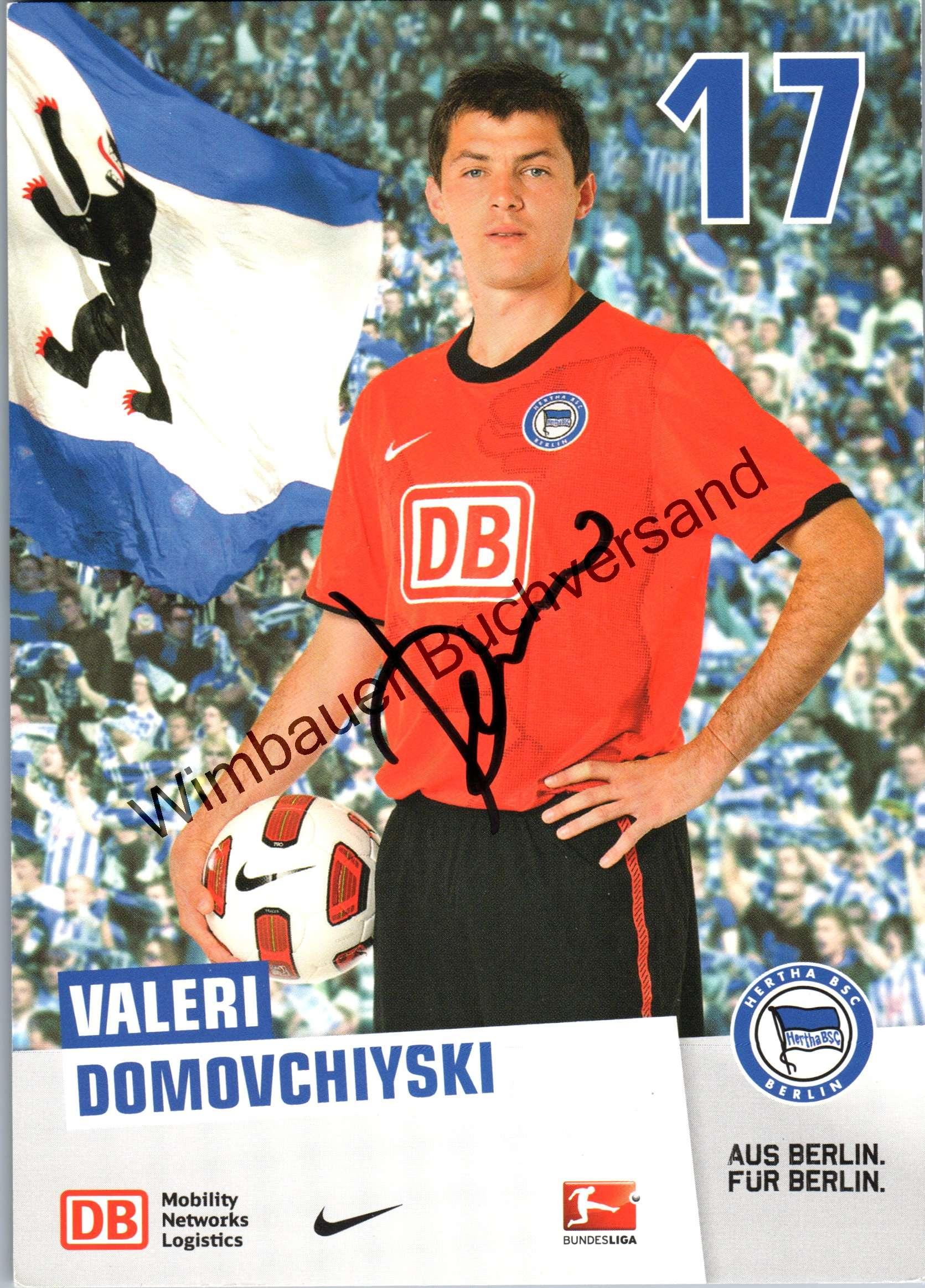 Domovchiyski, Valeri : Original Autogramm Valeri Domovchiyski Hertha BSC /// Autogramm Autograph signiert signed signee Saison 2010/2011