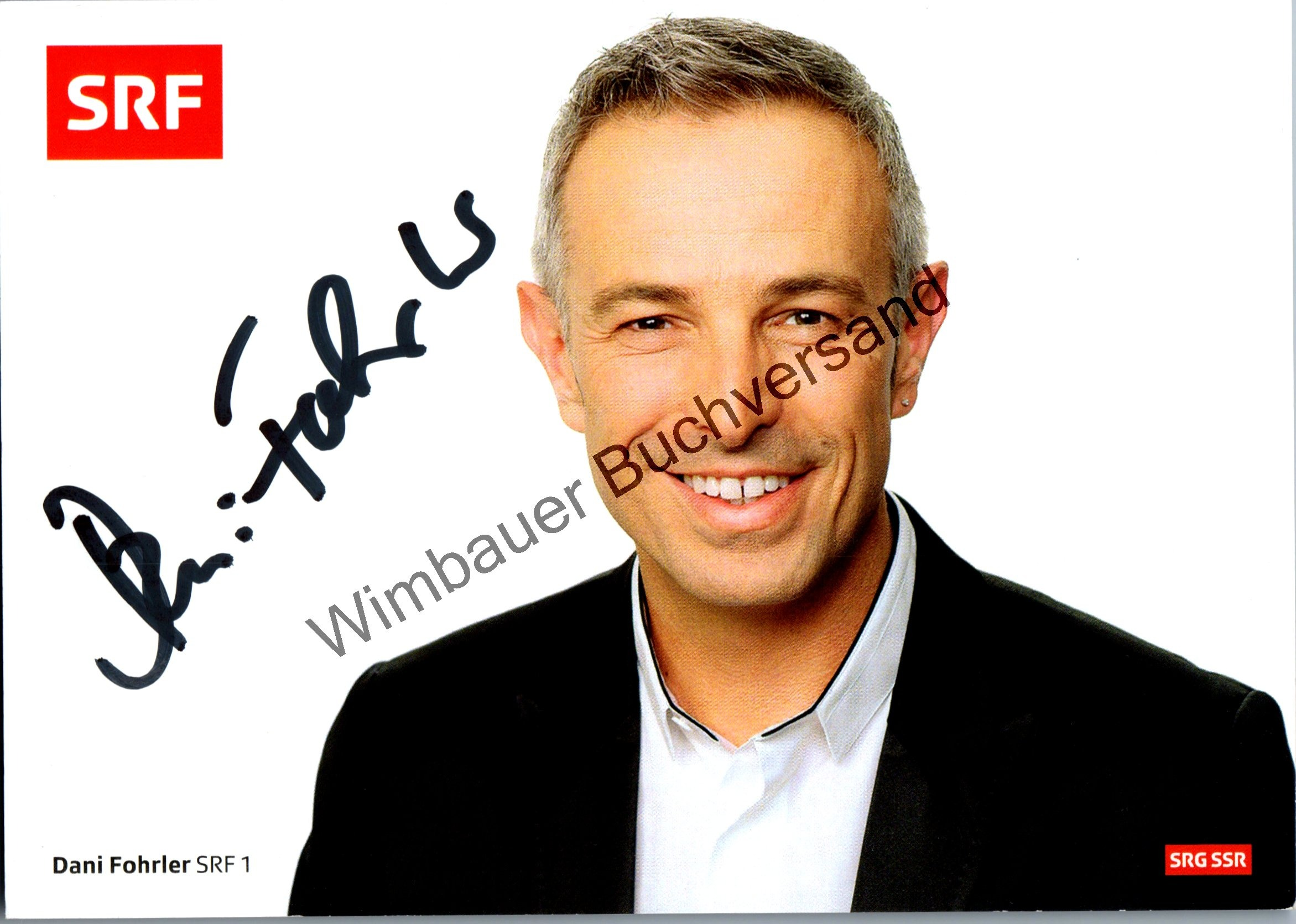 Original Autogramm Dani Fohrler SRF /// Autograph signiert signed signee