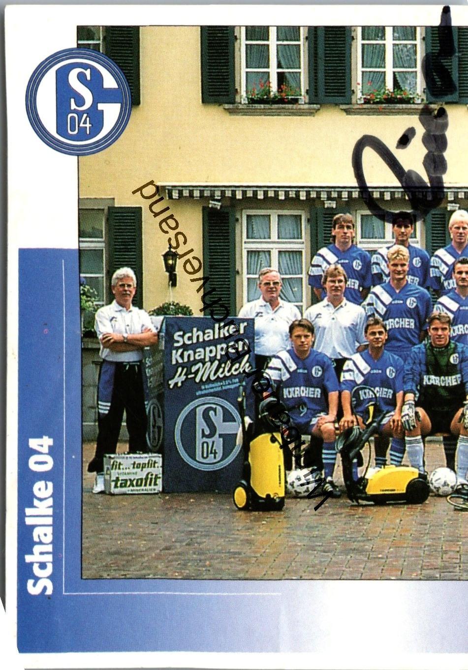 Original Autogramm Schalke 04 1996 Fussball /// Autograph signiert signed signee