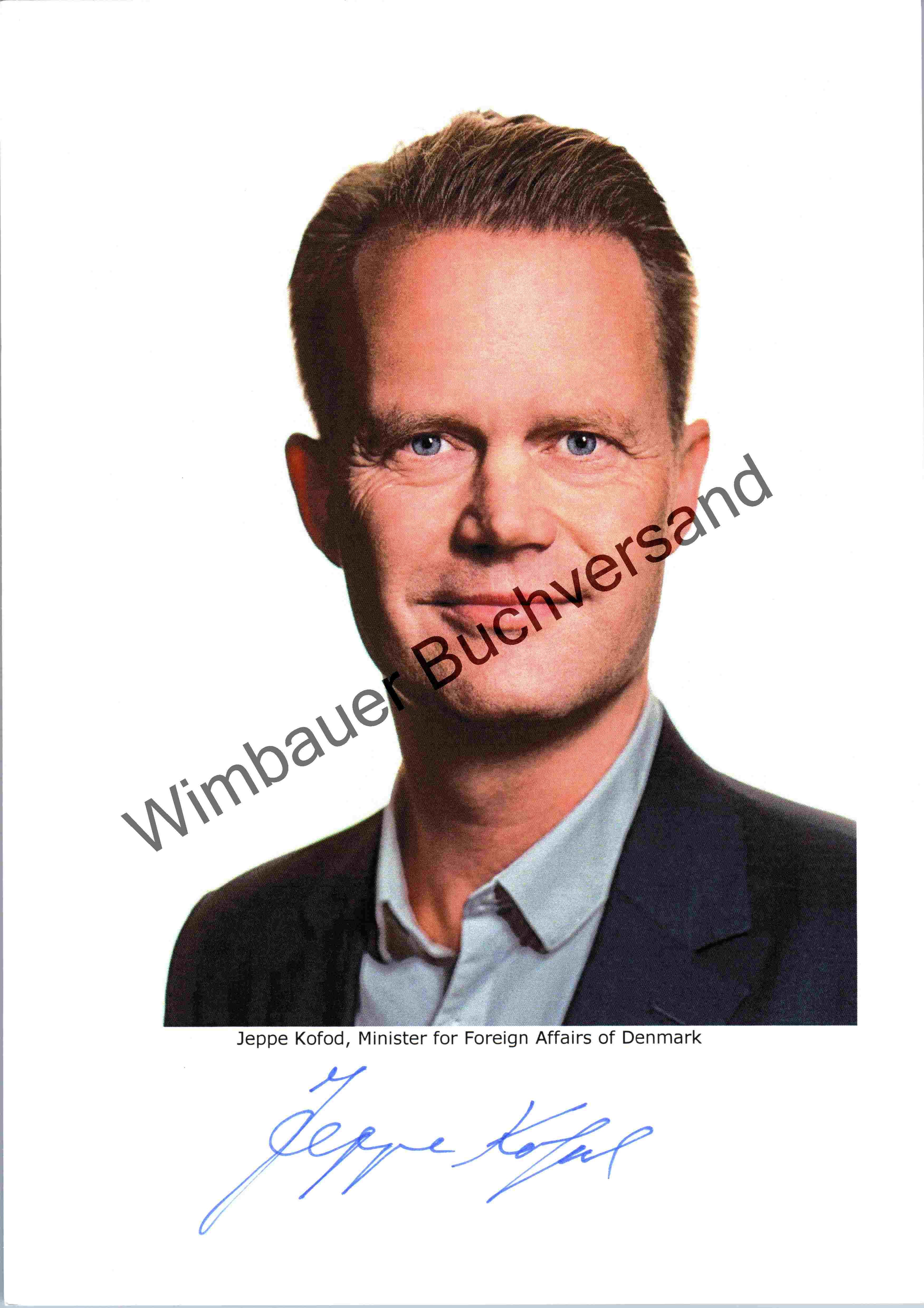 Original Autogramm Jeppe Kofod Aussenminister Dänemark /// Autograph signiert signed signee