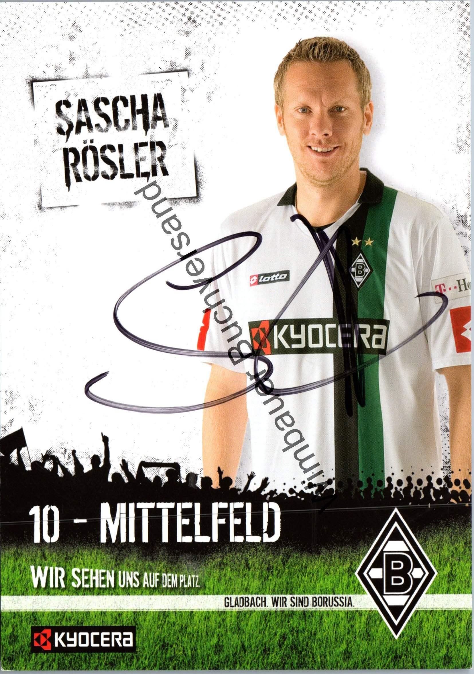 Rösler, Sascha : Original Autogramm Sascha Rösler Borussia Mönchengladbach /// Autograph signiert signed signee
