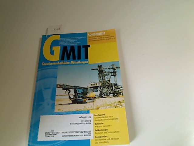 Geowissenschaftliche Mitteilungen GMit. Heft 75, 4. Quartal 2000