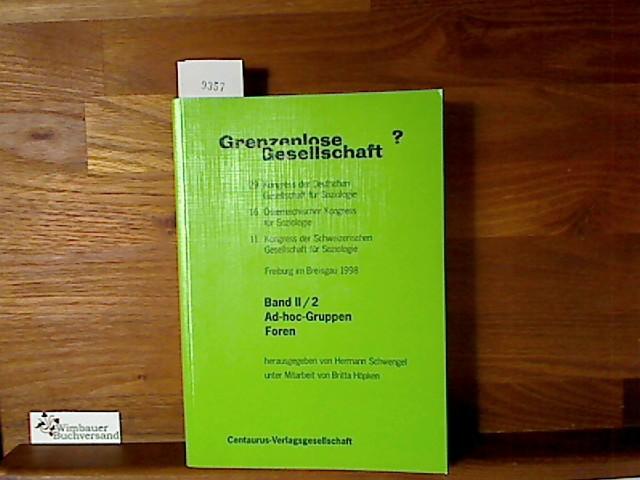 Schwengel, Hermann (Hg.) : Grenzenlose Gesellschaft? Band II/2: Ad-hoc-Gruppen - Foren