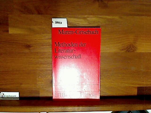 Methoden der Literaturwissenschaft. Manon Maren-Grisebach, UTB ; 121 8., durchges. Aufl.